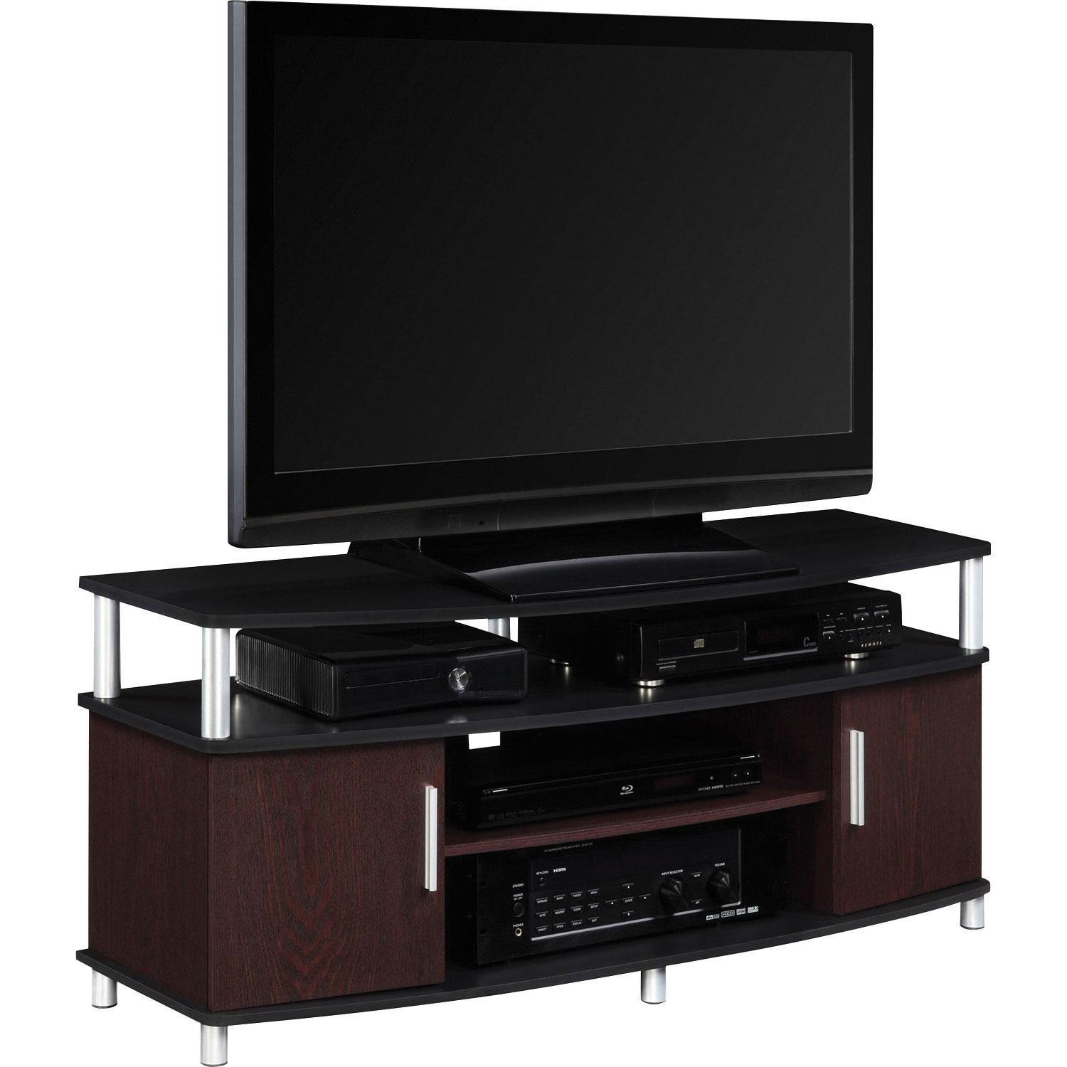 dorel carson  tv stand  cherryblack  tv stands  best buy canada -