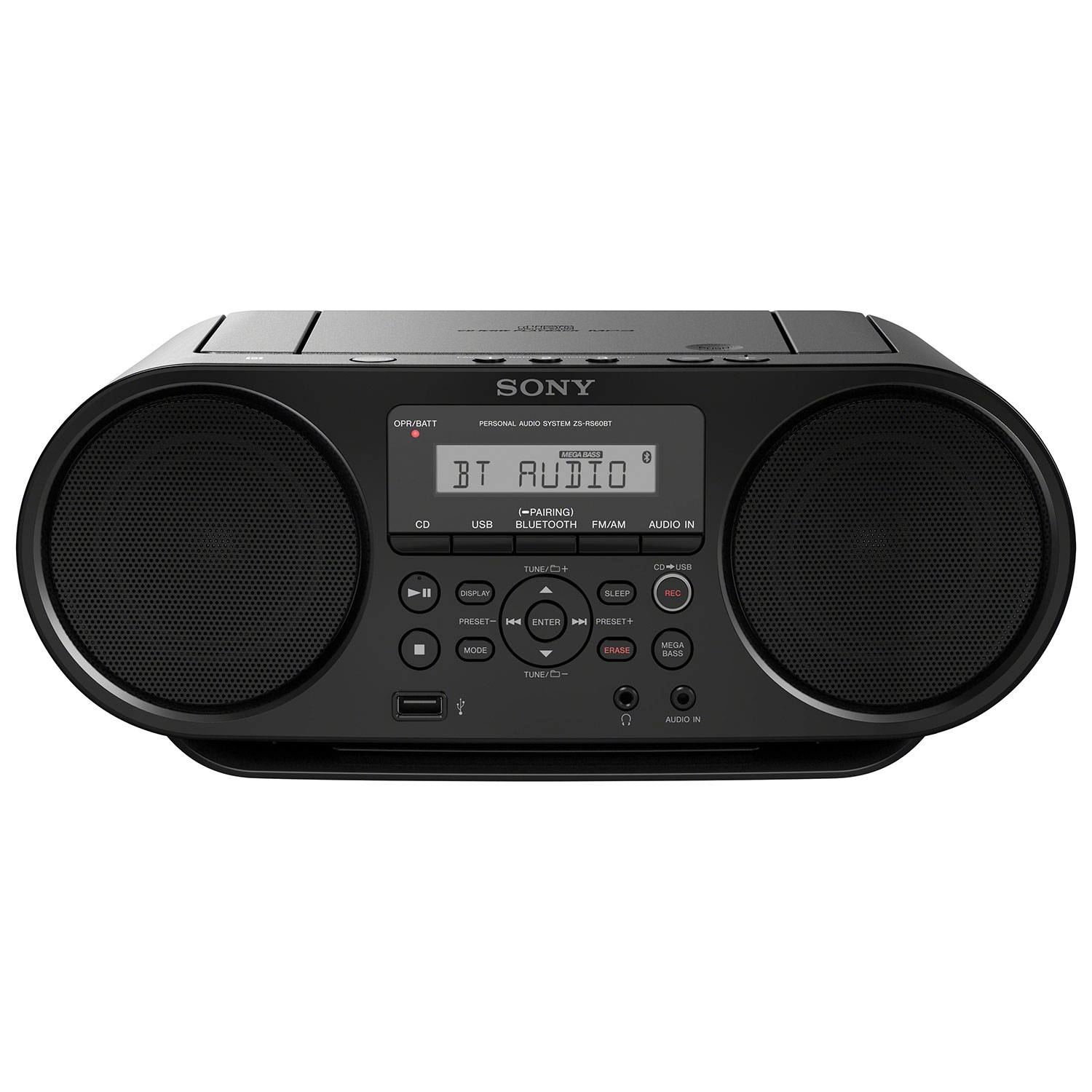 Small Cd Player For Bedroom Sony Zs Rs60bt Bluetooth Portable Boombox Black Boomboxes