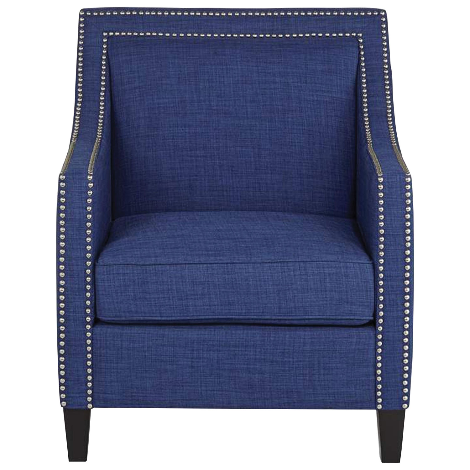 Erica Contemporary Polyester Accent Chair Blue Accent Chairs
