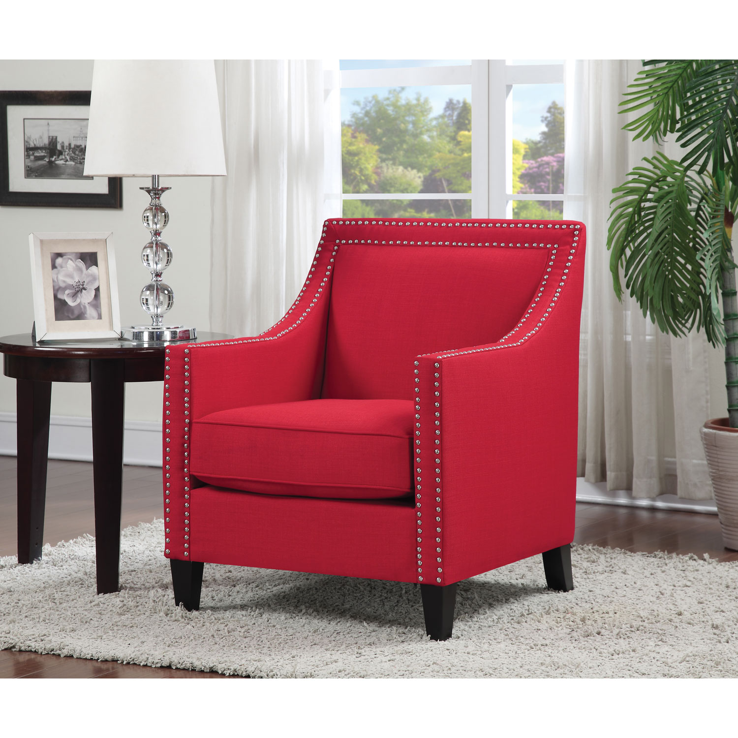 Awesome Red Accent Chairs Inspirational | Inmunoanalisis.com