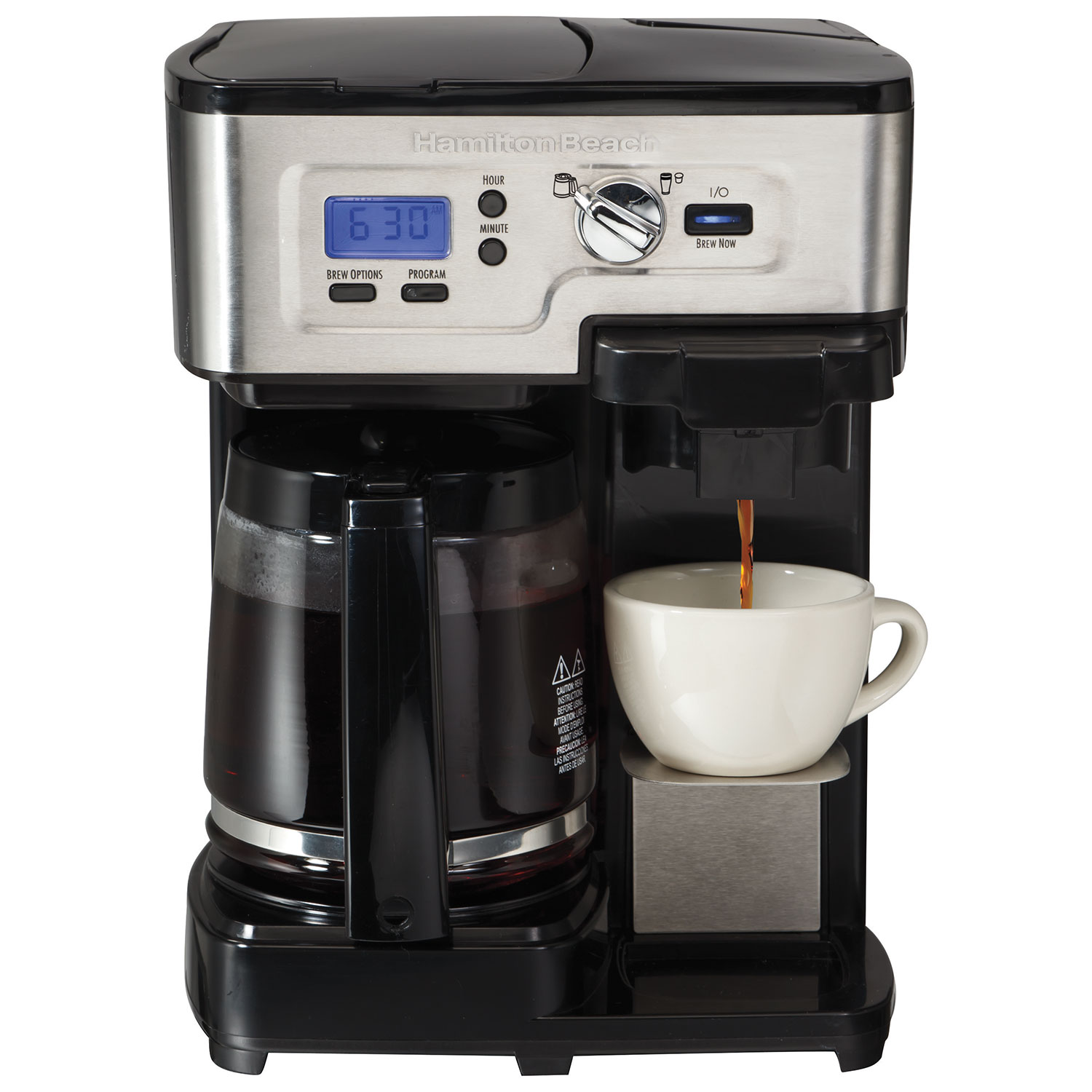 Electronic Test Cases For Coffee Machine hamilton beach 12 cup multi functional coffee maker 49983c blackstainless makers best buy canada