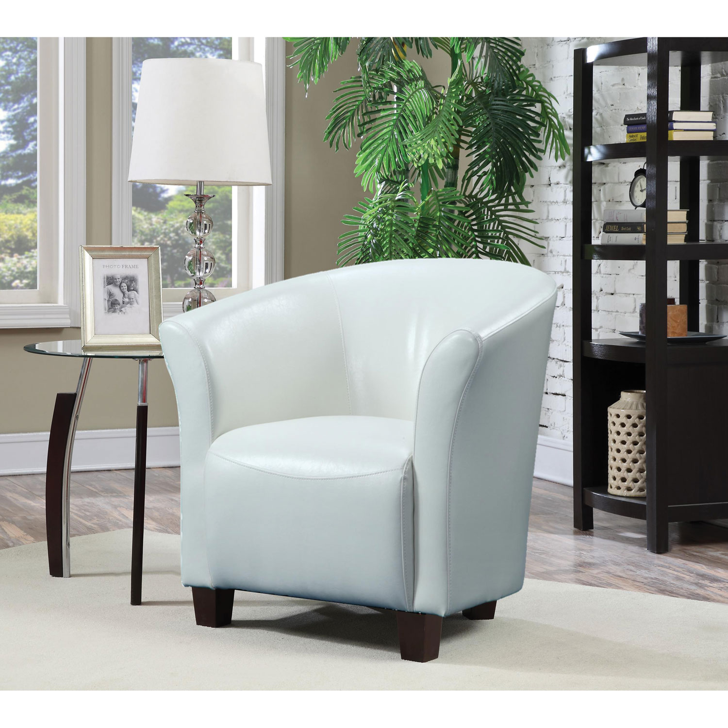 Rocket Contemporary Polyurethane Accent Chair White Accent