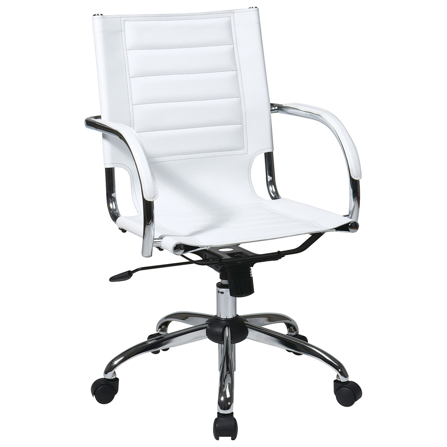Avenue Six Trinidad PVC fice Chair White fice Chairs
