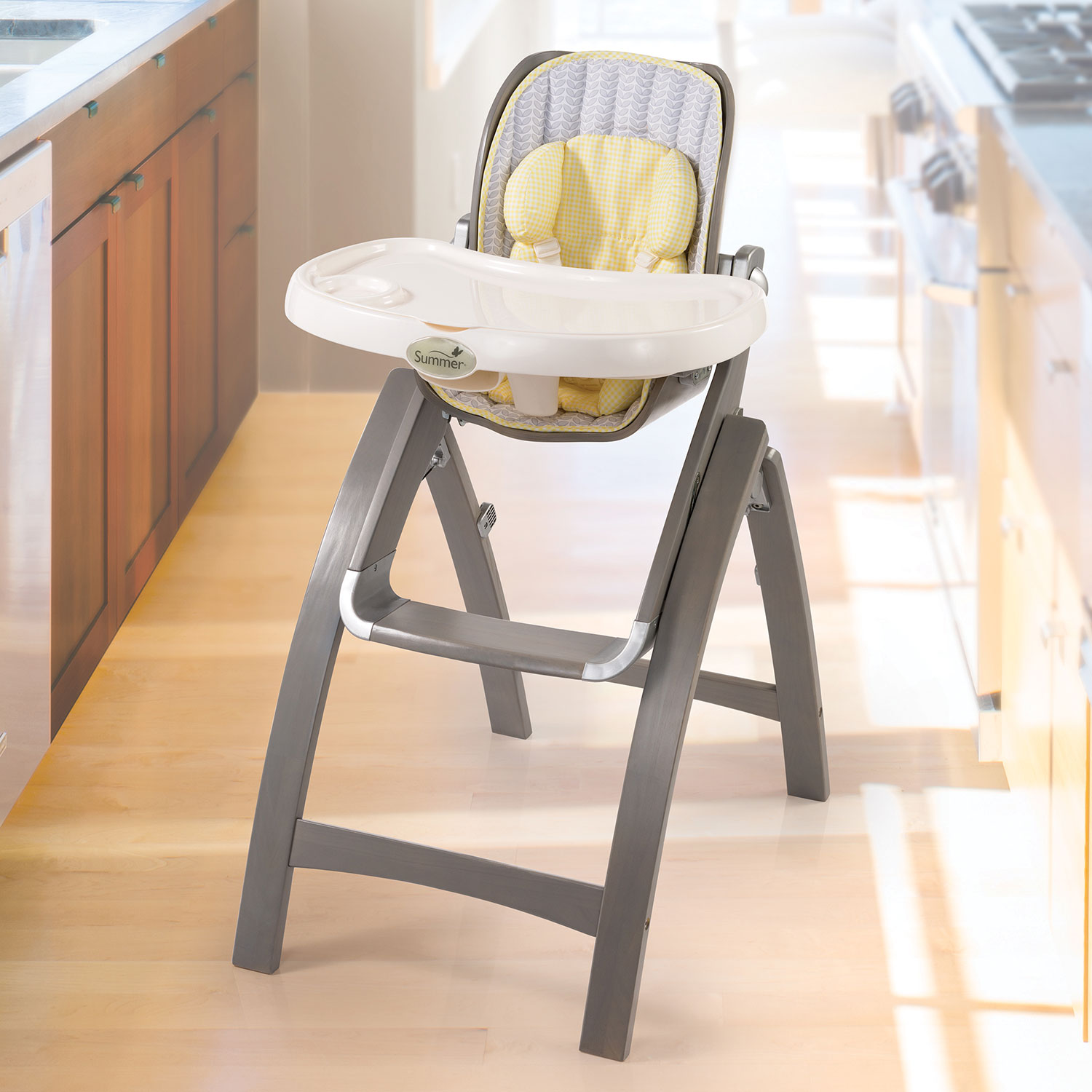 Summer Infant Bentwood High Chair Grey High Chairs Best Buy