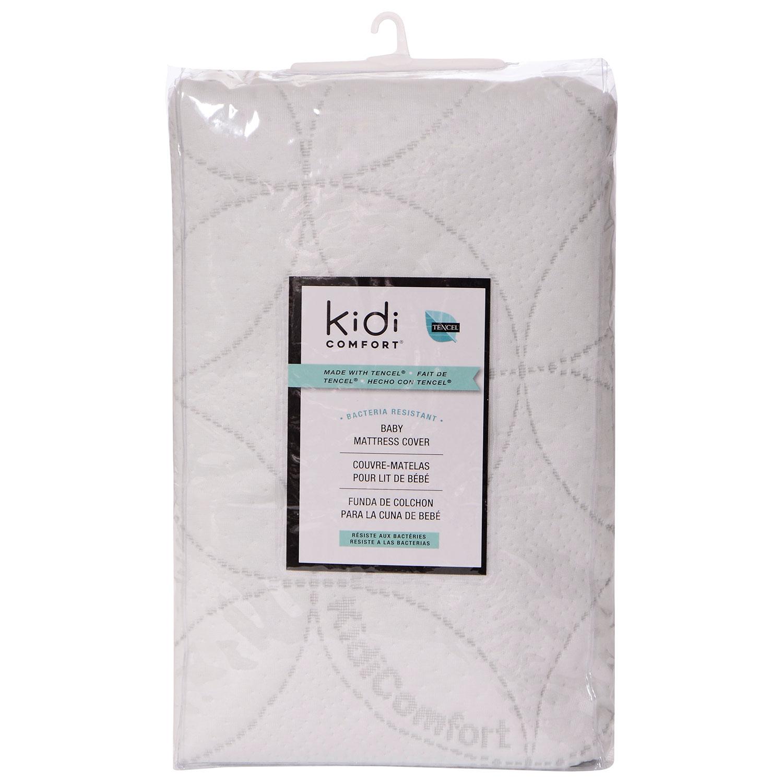 kidiway waterproof crib mattress cover - white : crib rail covers