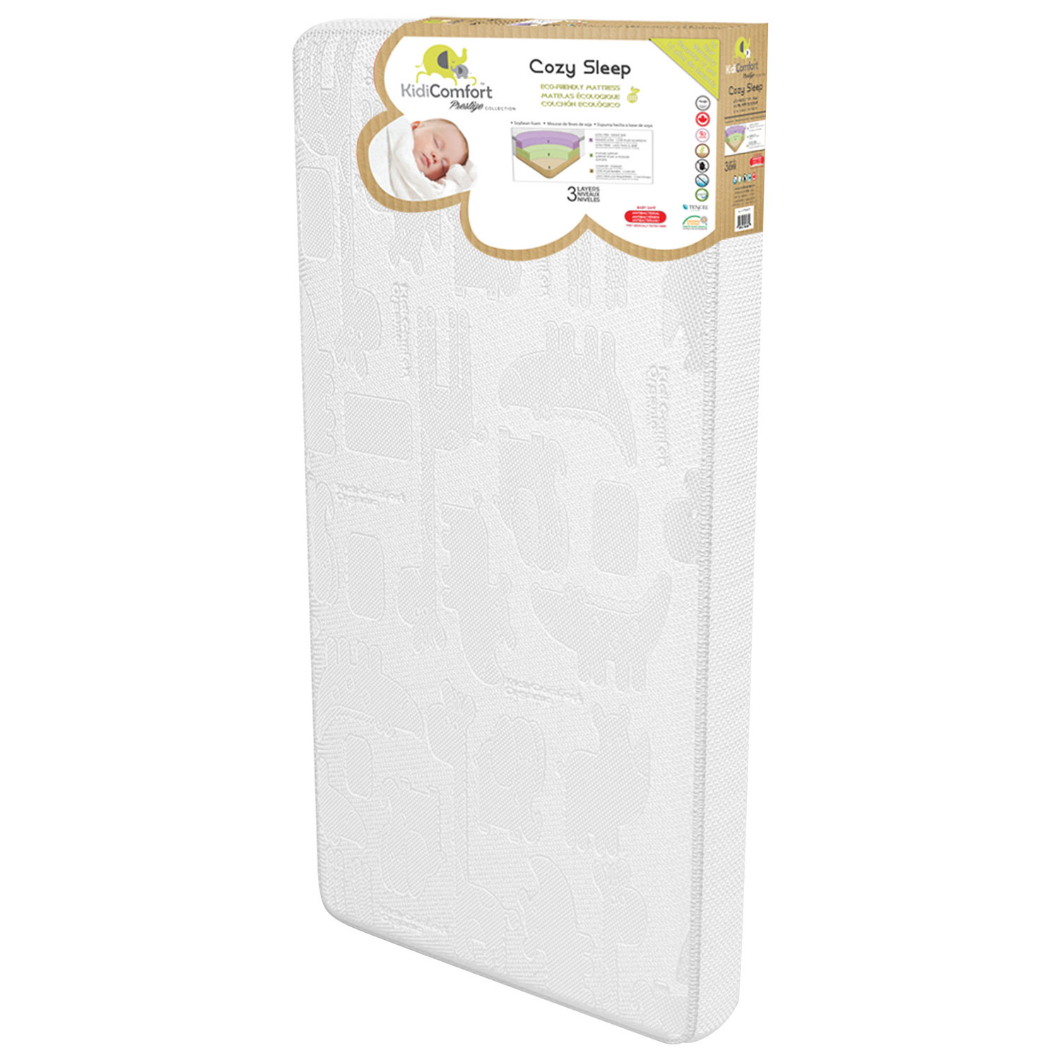 Kidiway Kidicomfort Antibacterial Cozy Sleep Mattress Crib