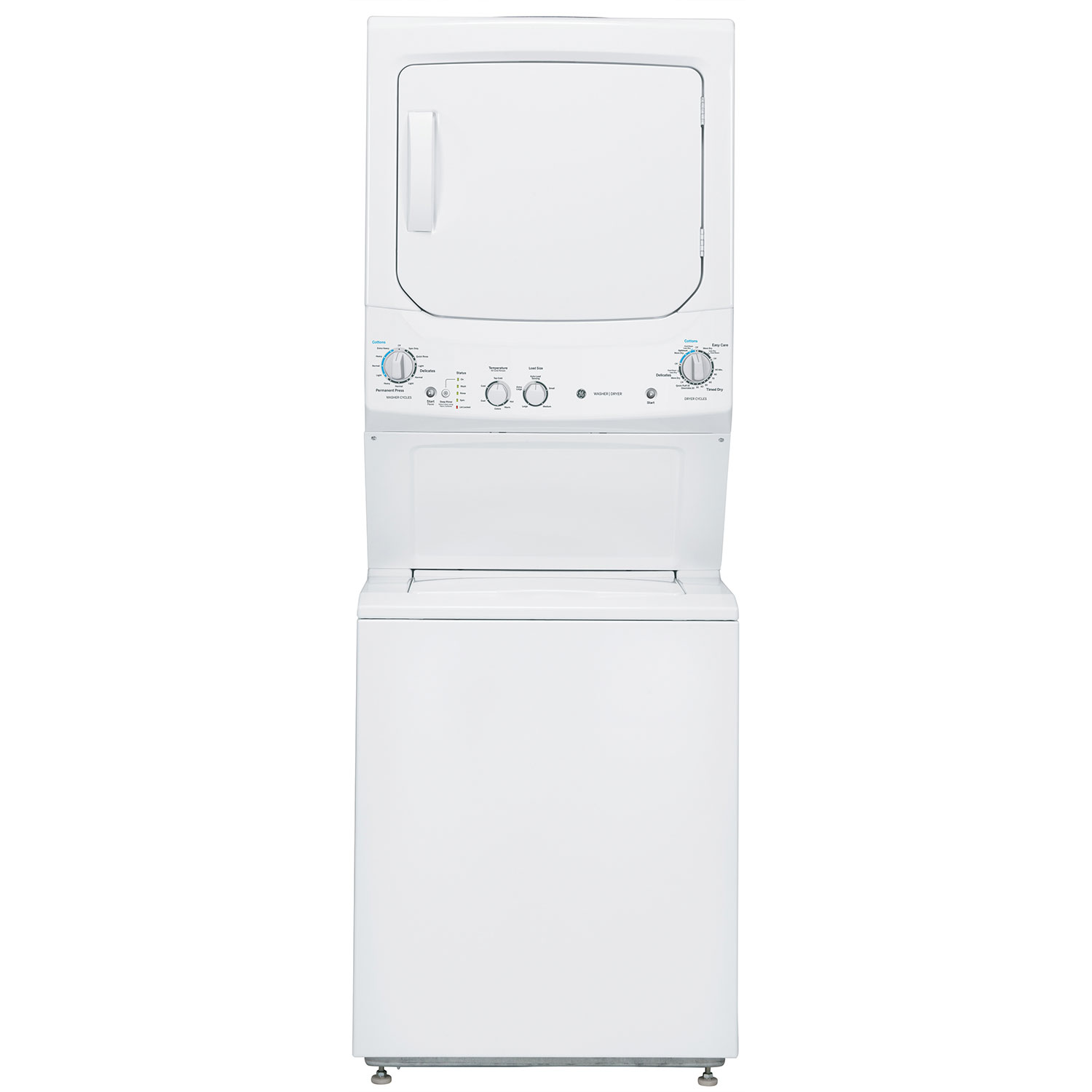 Lg 2 3 cu ft all in one washer and dryer - Ge 27 3 9 Cu Ft Washer And 5 9 Cu Ft Dryer Laundry Center Gud27esmjww White