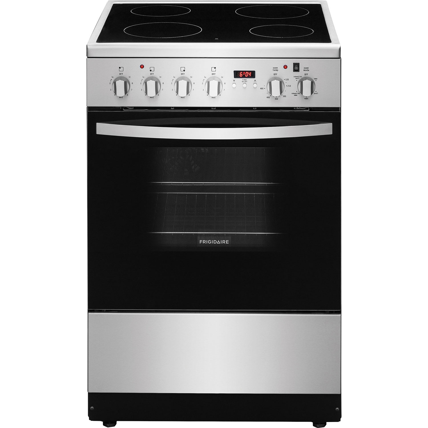Frigidaire 24 1 9 Cu Ft Freestanding 4 Element Smooth Top Electric Range Stainless Steel Ranges Best Canada