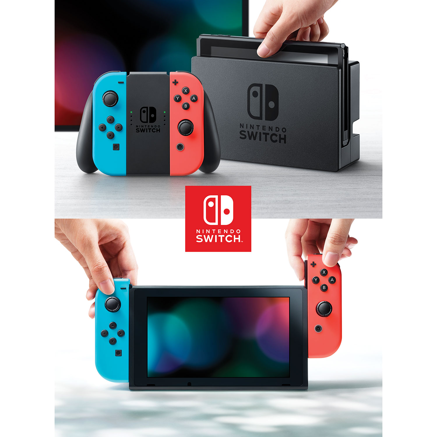 Nintendo Switch Console With Neon Red Blue Joy Con Bundle 2games 2amiibo Consoles Best Buy Canada