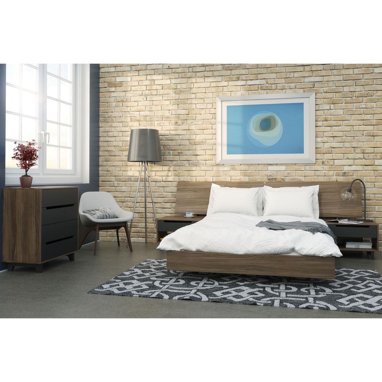nexera furniture website. Alibi Modern 1-Drawer Nightstand - Walnut/Charcoal : Nightstands Best Buy Canada Nexera Furniture Website