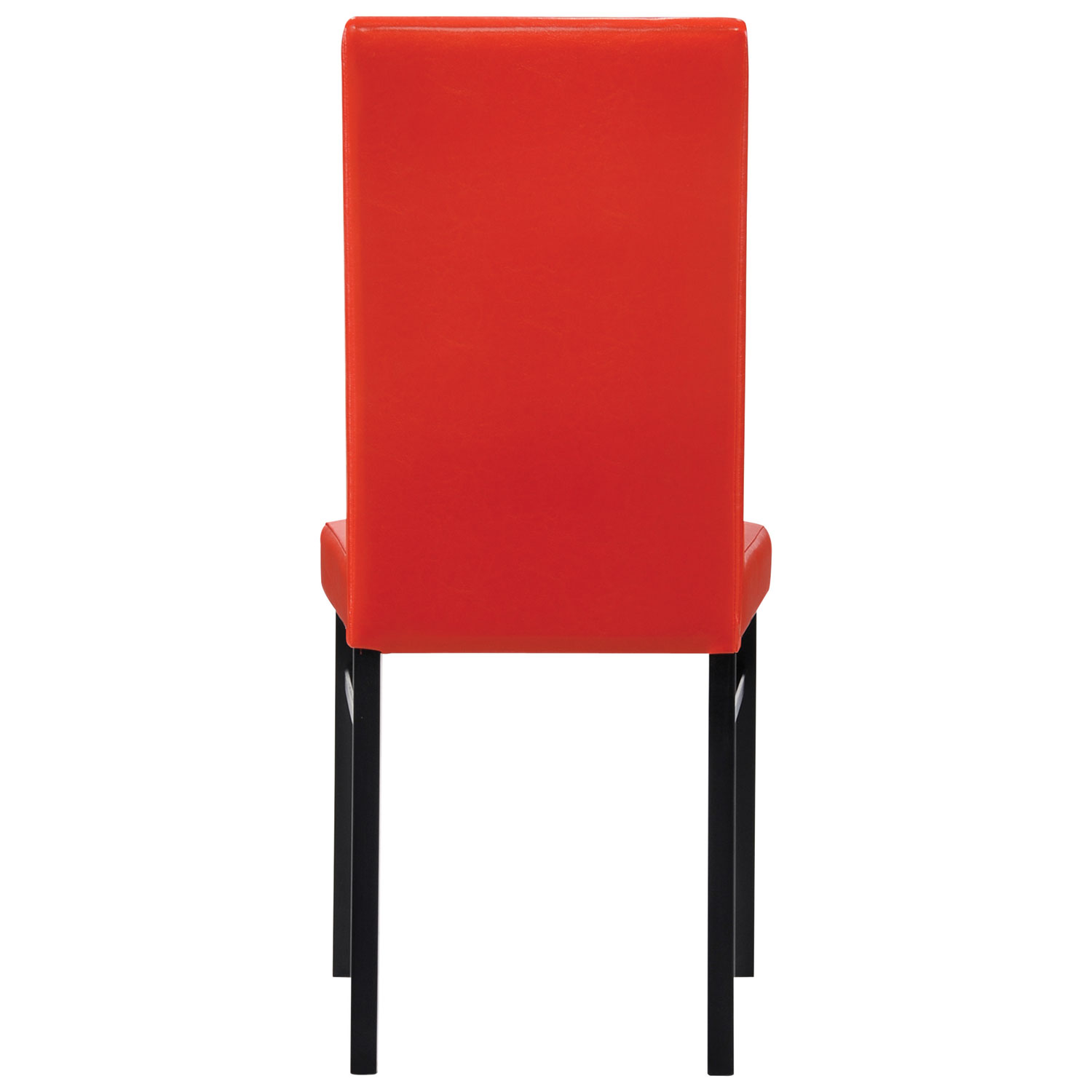 oakley transitional faux leather dining chair  set of   red  - oakley transitional faux leather dining chair  set of   red  diningchairs  best buy canada