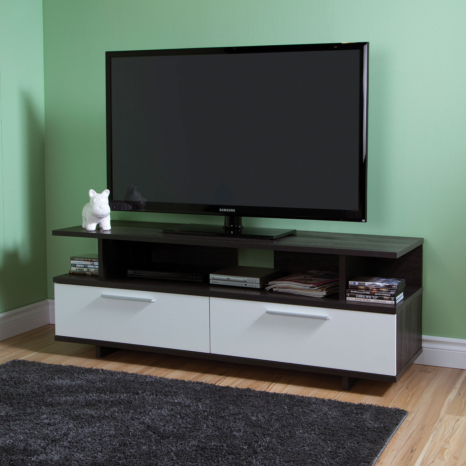 south shore reflekt tv stand for tvs up to   grey oak  tv  - south shore reflekt tv stand for tvs up to   grey oak  tv stands best buy canada