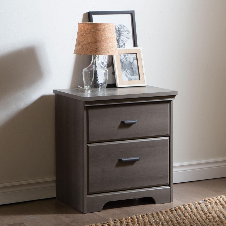 versa traditional drawer nightstand  grey maple  nightstands  - versa traditional drawer nightstand  grey maple  nightstands  best buycanada