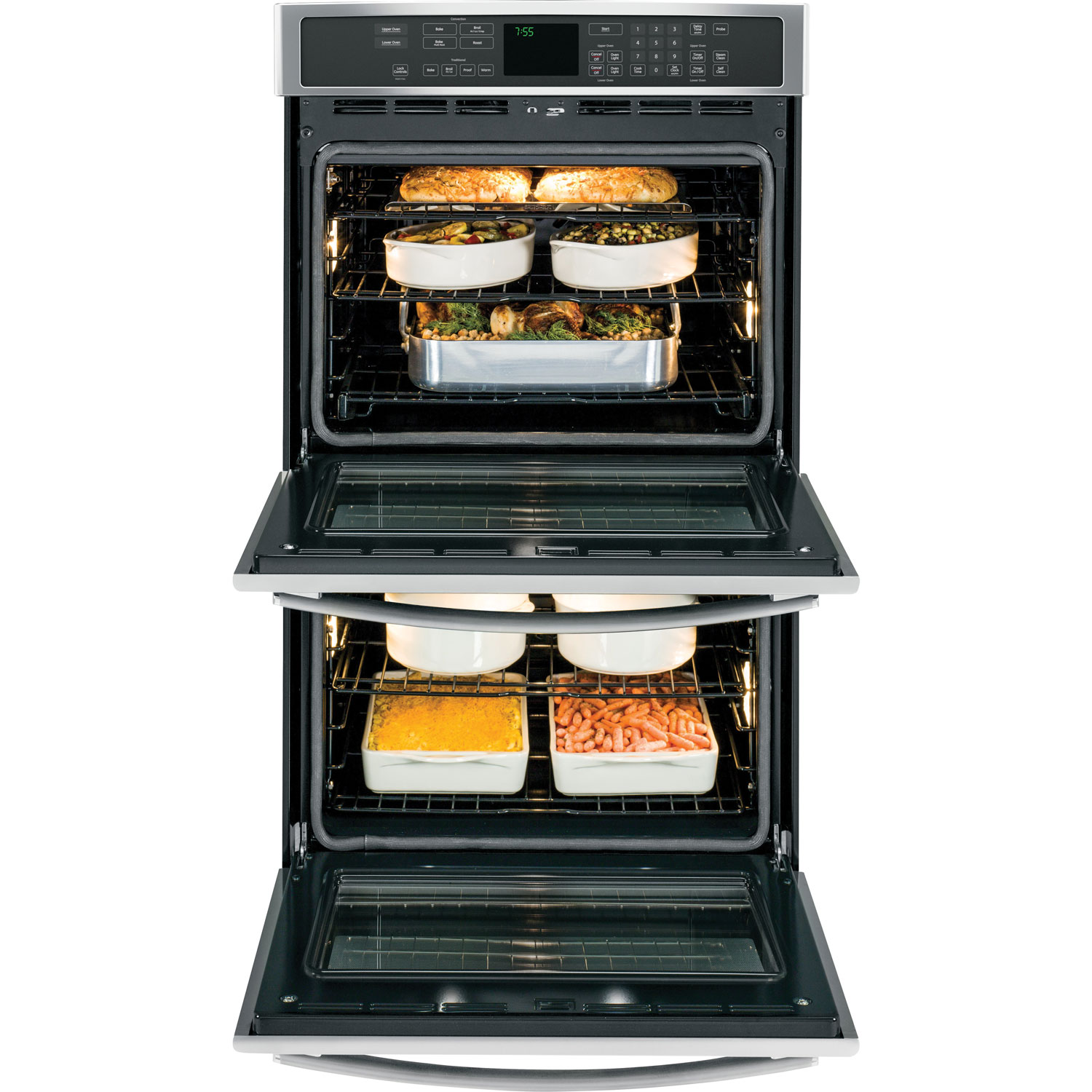 Gas Double Oven Wall Ge 2975 2 X 50 Cu Ft Self Clean Convection Double Wall Oven