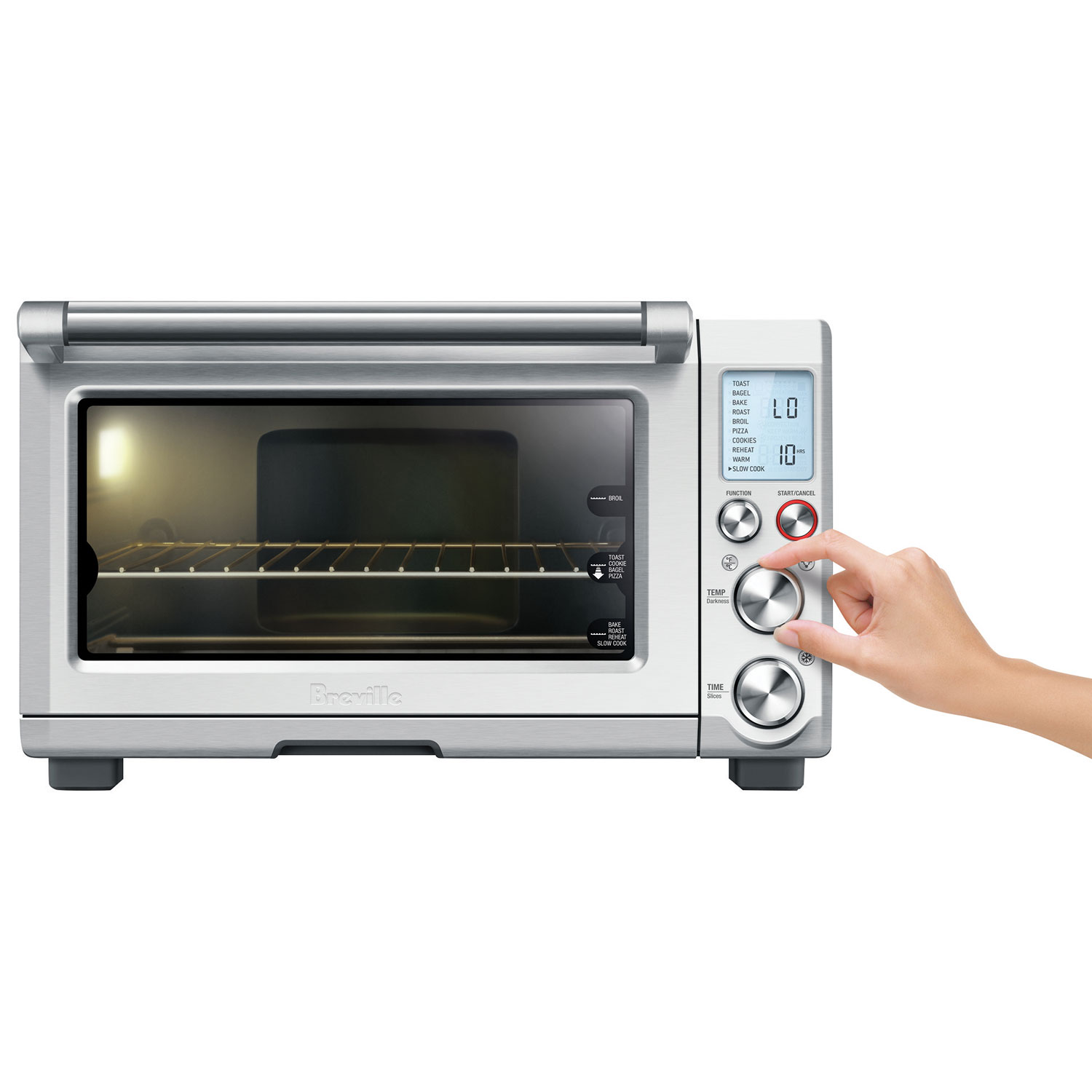 breville smart oven pro convection toaster oven 08 cu ft die cast stainless toaster ovens best buy canada