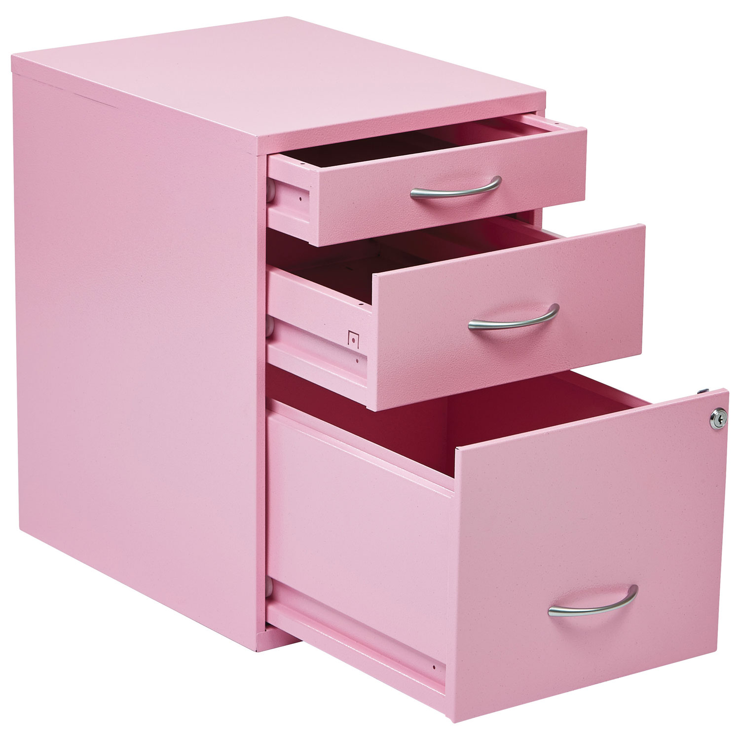 OSP Designs Modern 3-Drawer File Cabinet - Pink : Filing Cabinets ...