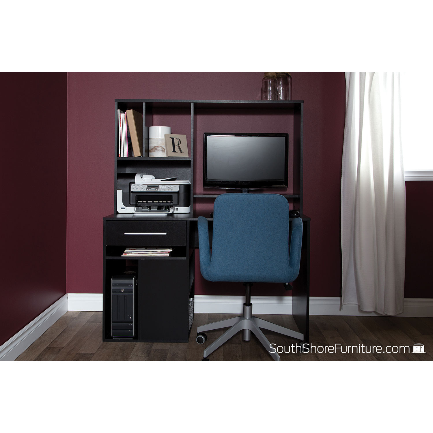 annexe drawer computer desk  pure black  desks  workstations  - annexe drawer computer desk  pure black  desks  workstations  bestbuy canada