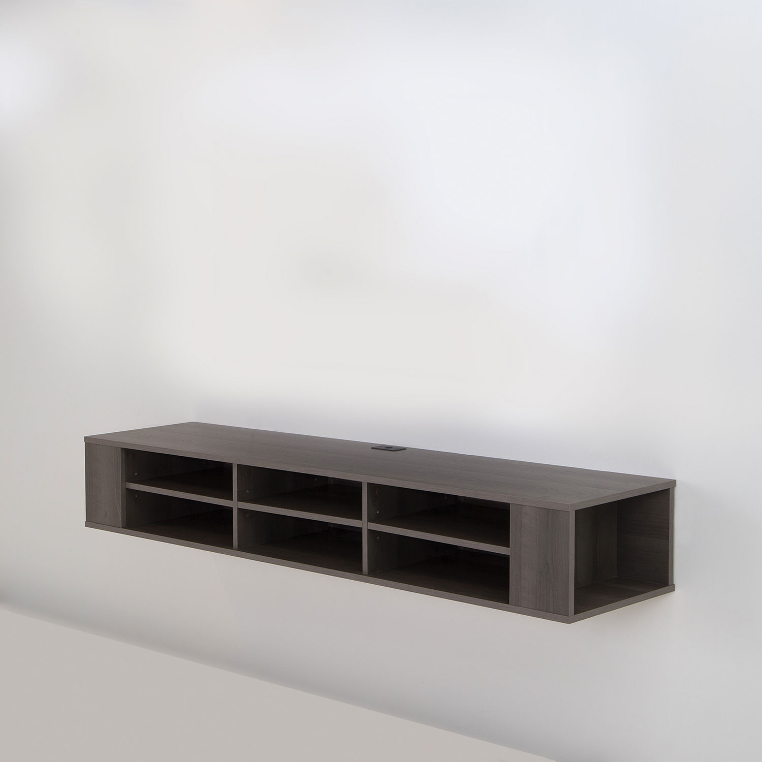 South Shore City Life 66 Wall Mounted Media Console Grey Maple