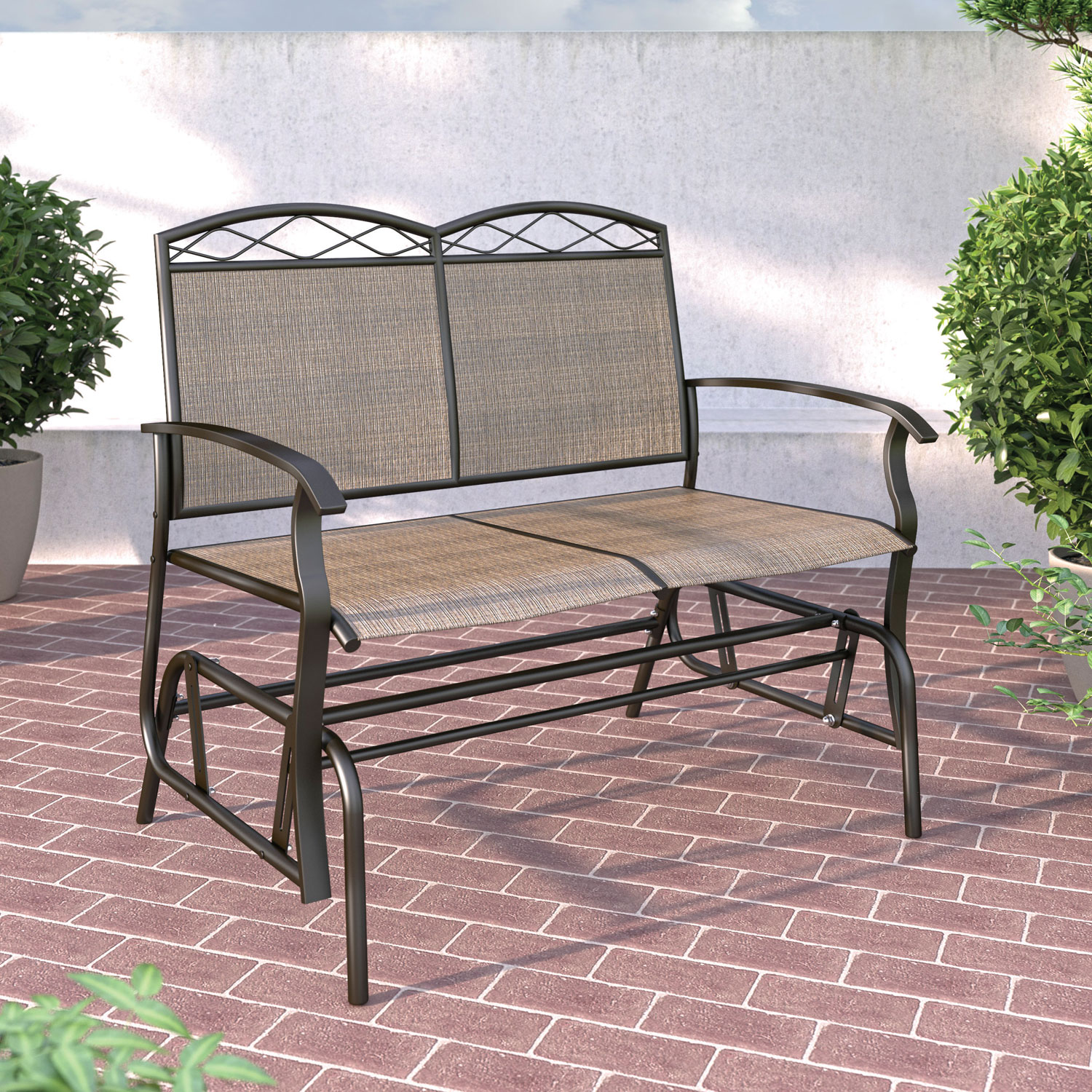 CorLiving Patio Double Glider   Speckled Brown : Outdoor Chairs   Best Buy  Canada