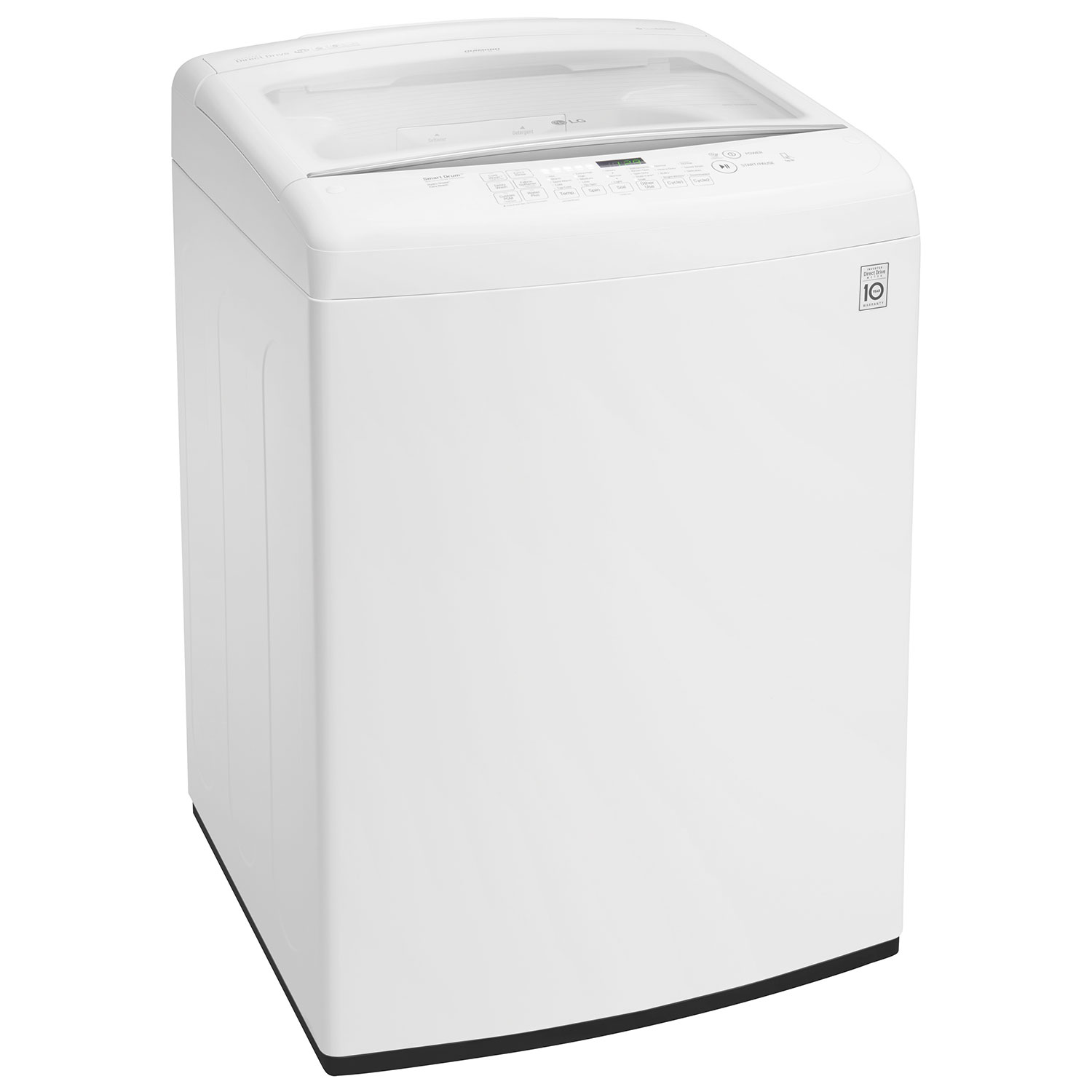 lg 52 cu ft high efficiency top load washer wt1501cw white