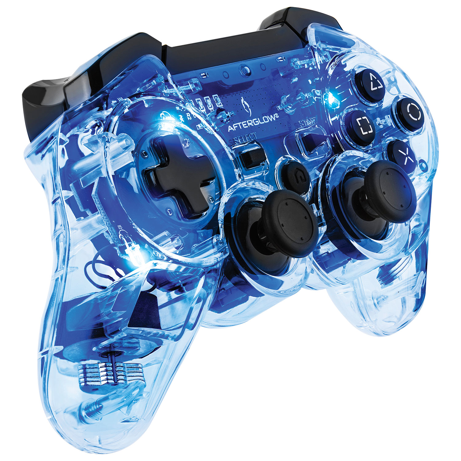 PDP Afterglow Controller for PS3 - Blue : PS3 Controllers - Best Buy ...