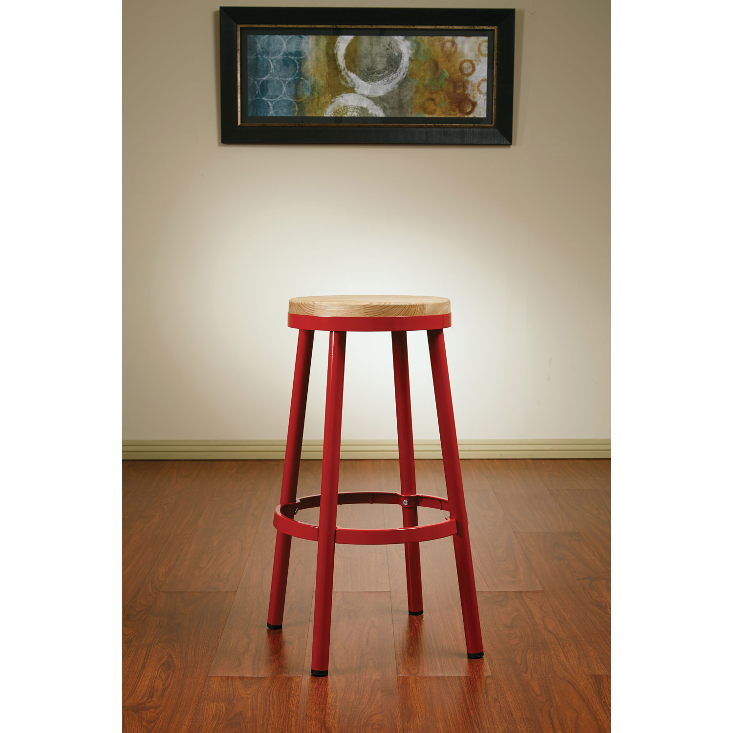 Bristow contemporary bar height bar stool red online only