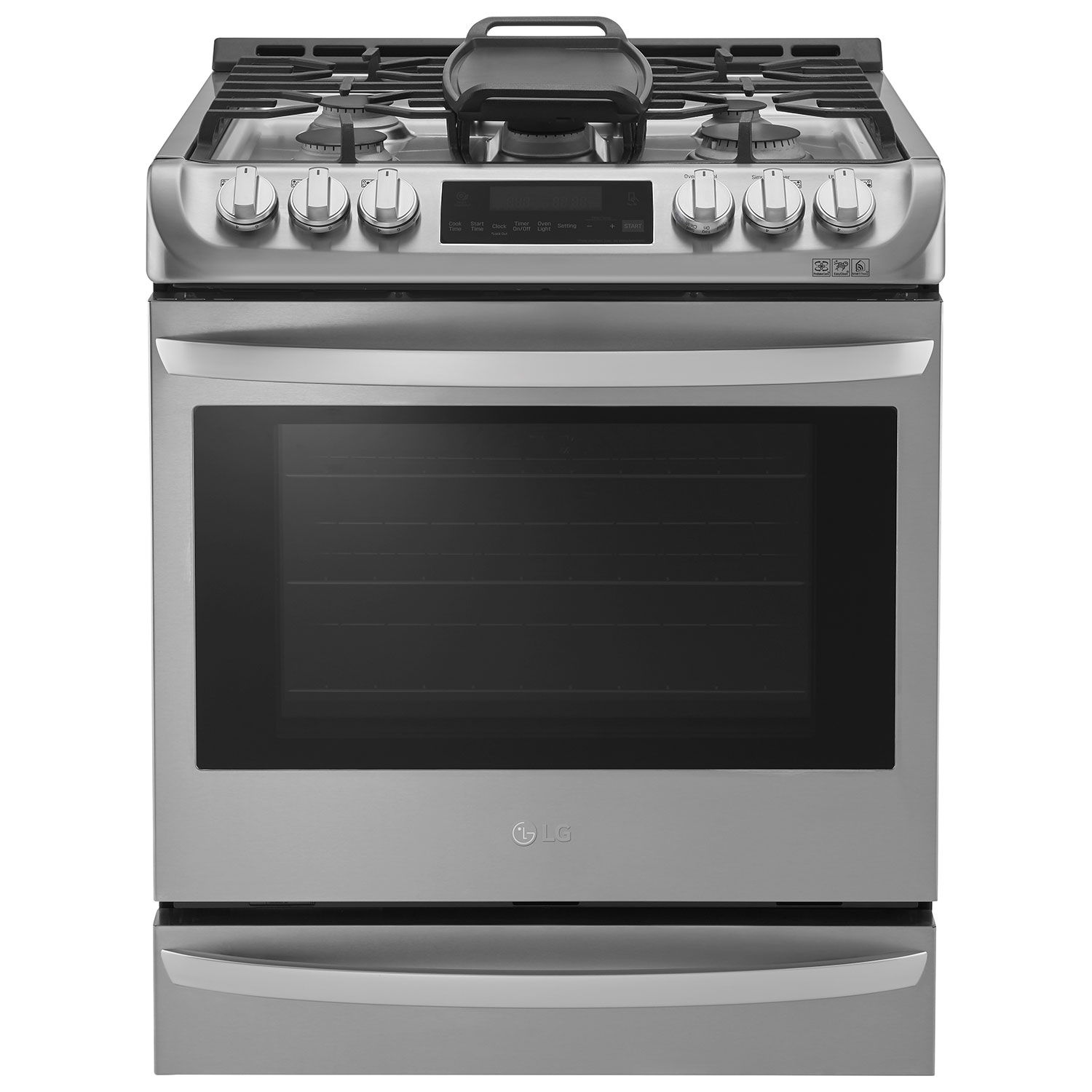 Gas Stainless Steel Cooktop Lg 30 63 Cu Ft Easy Clean True Convection Slide In Gas Range