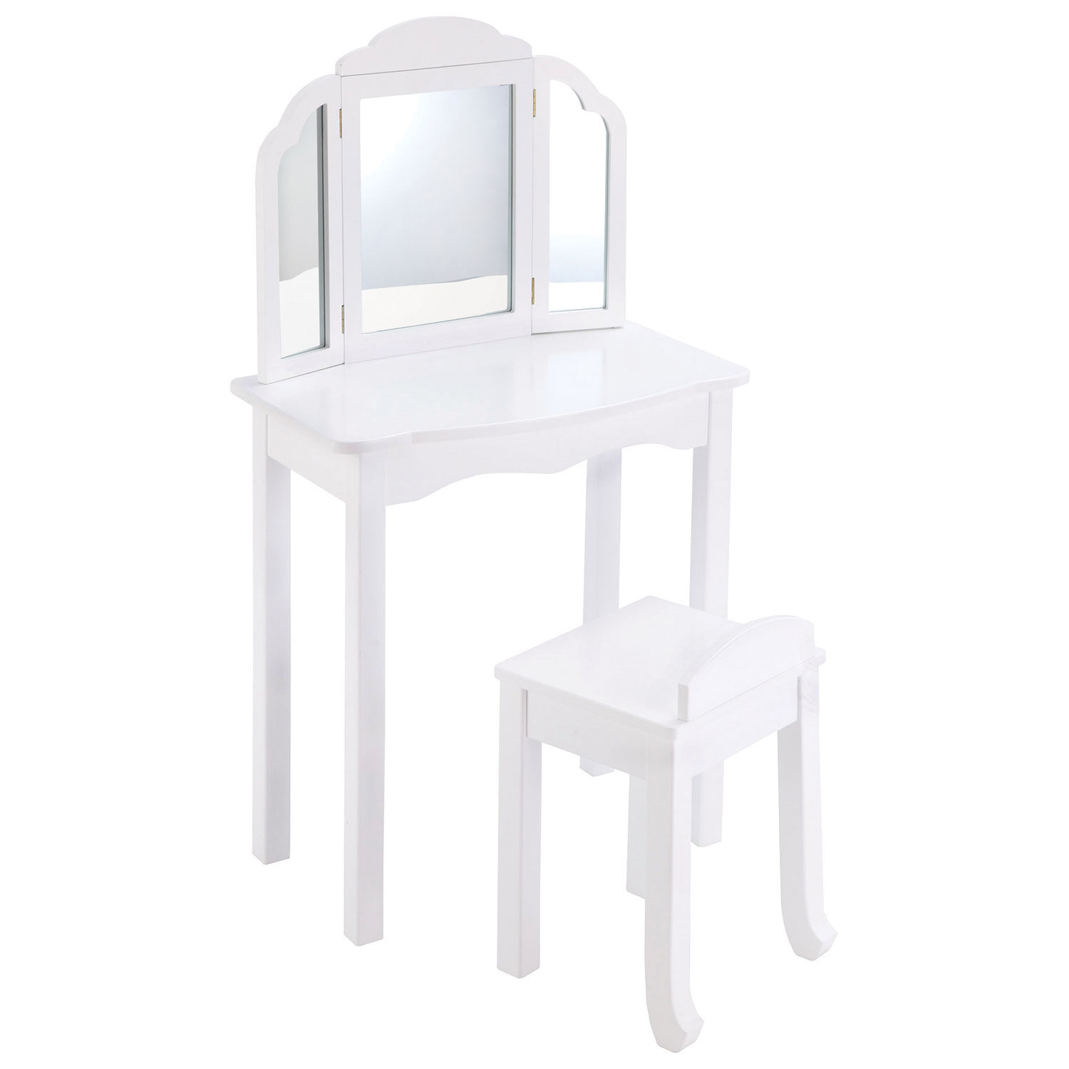 Expressions Traditional Kids Vanity Set with Mirror & Stool