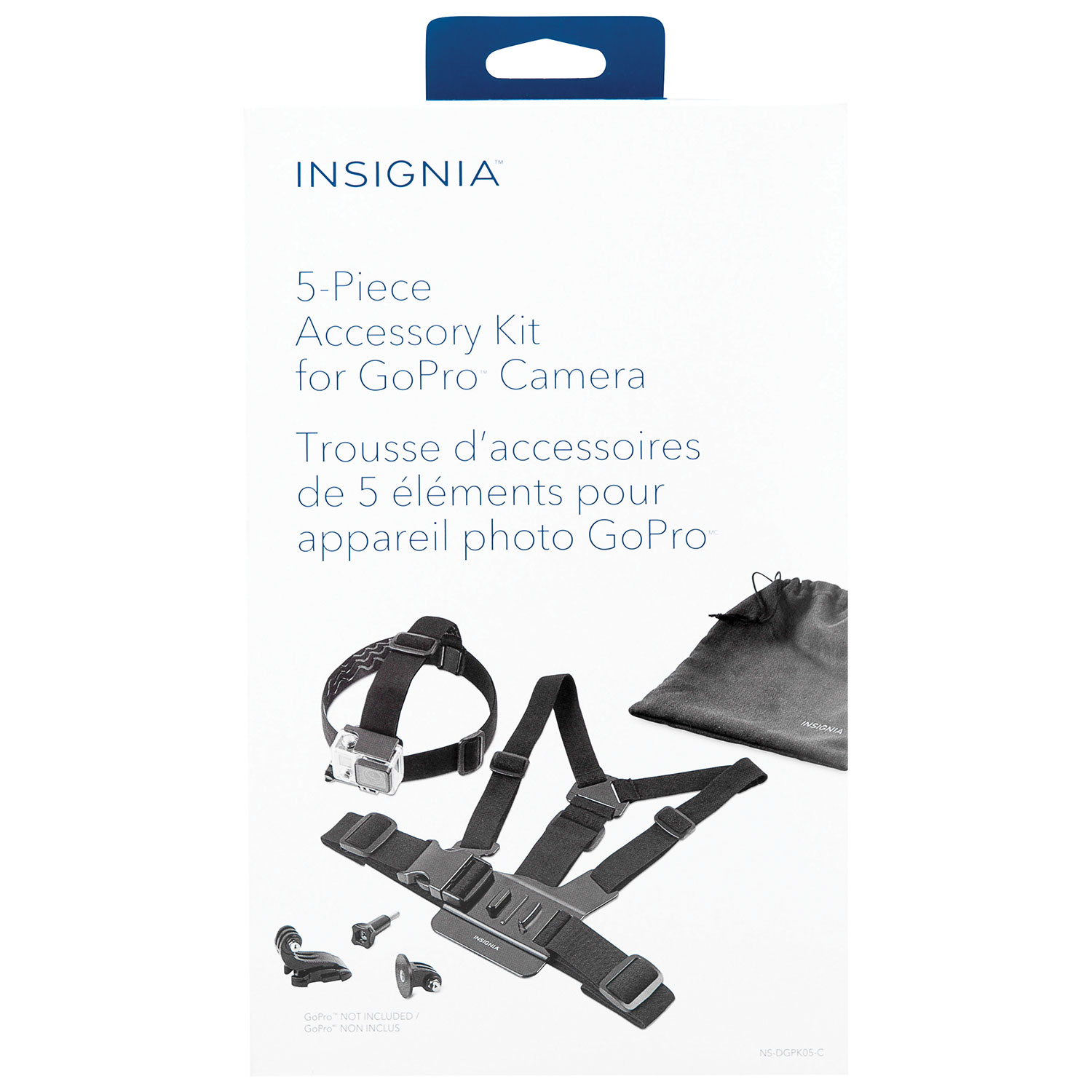 Insignia 5 Piece Accessory Kit For Gopro Ns Dgpk05 C Camera Hero Acc Remote 20 Mounts Best Buy Canada