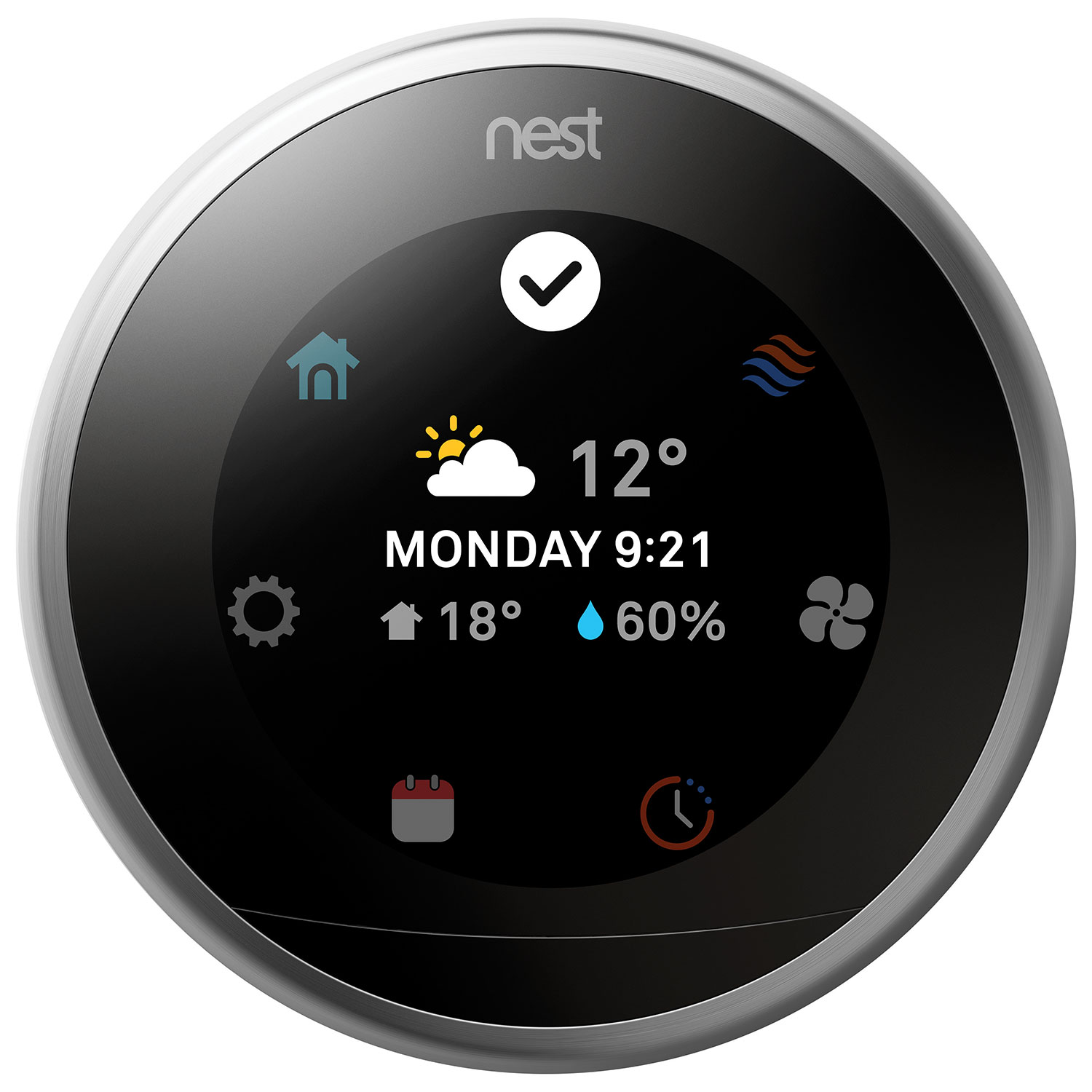 Nest Wi Fi Smart Learning Thermostat 3rd Generation 1st Gen Wiring Diagram Thermostats Best Buy Canada