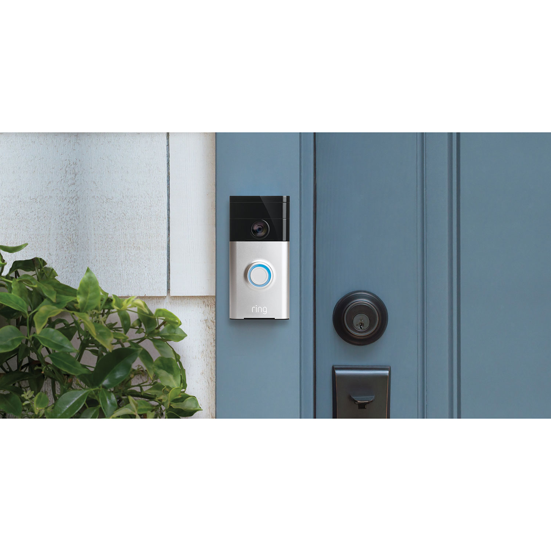 Ring Wifi 720p Video Doorbell Satin Nickel Smart Locks Mains Trigger Musical Door Bell Circuit Bells Best Buy Canada