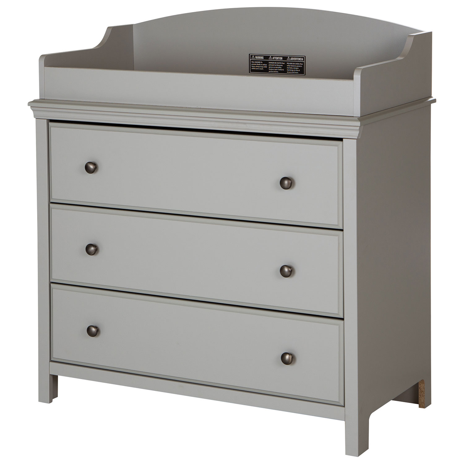 South Shore Cotton Candy Changing Table With Drawers   Soft Gray : Change  Tables   Best Buy Canada