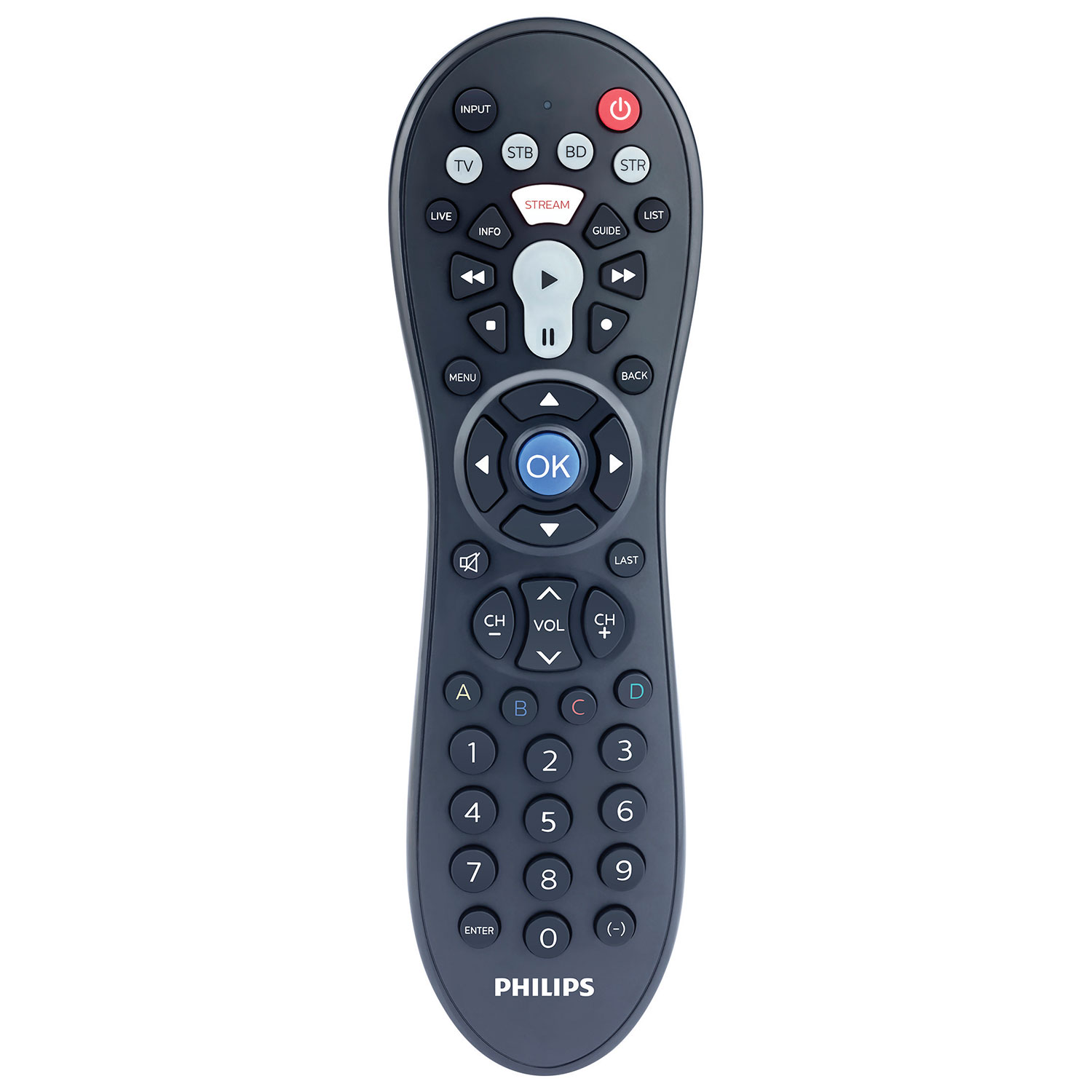 philips tv remote input button. philips 4-in-1 universal remote control : controls - best buy canada tv input button