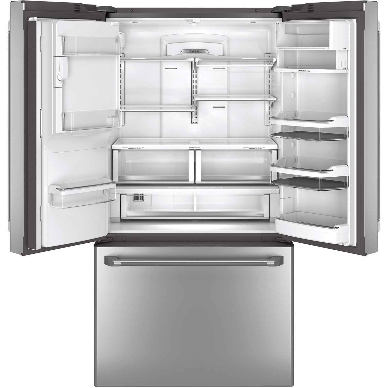 Ge Cafe 36 221 Cu Ft Counter Depth French Door Refrigerator