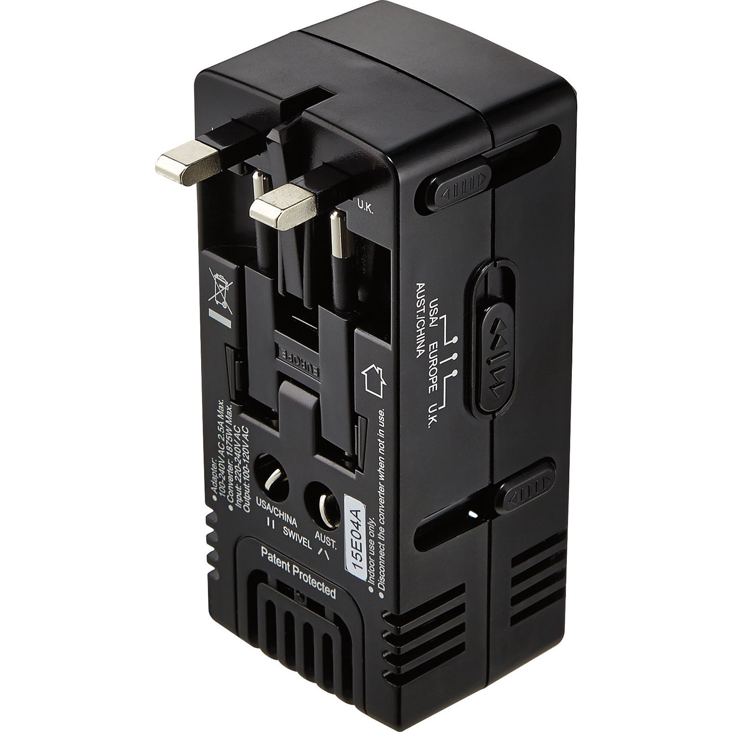Insignia All In One Travel Adapter Converter Ns Mta1875 C To Legally Canada Add 240v Power Outlet From Stove Adapters Best Buy