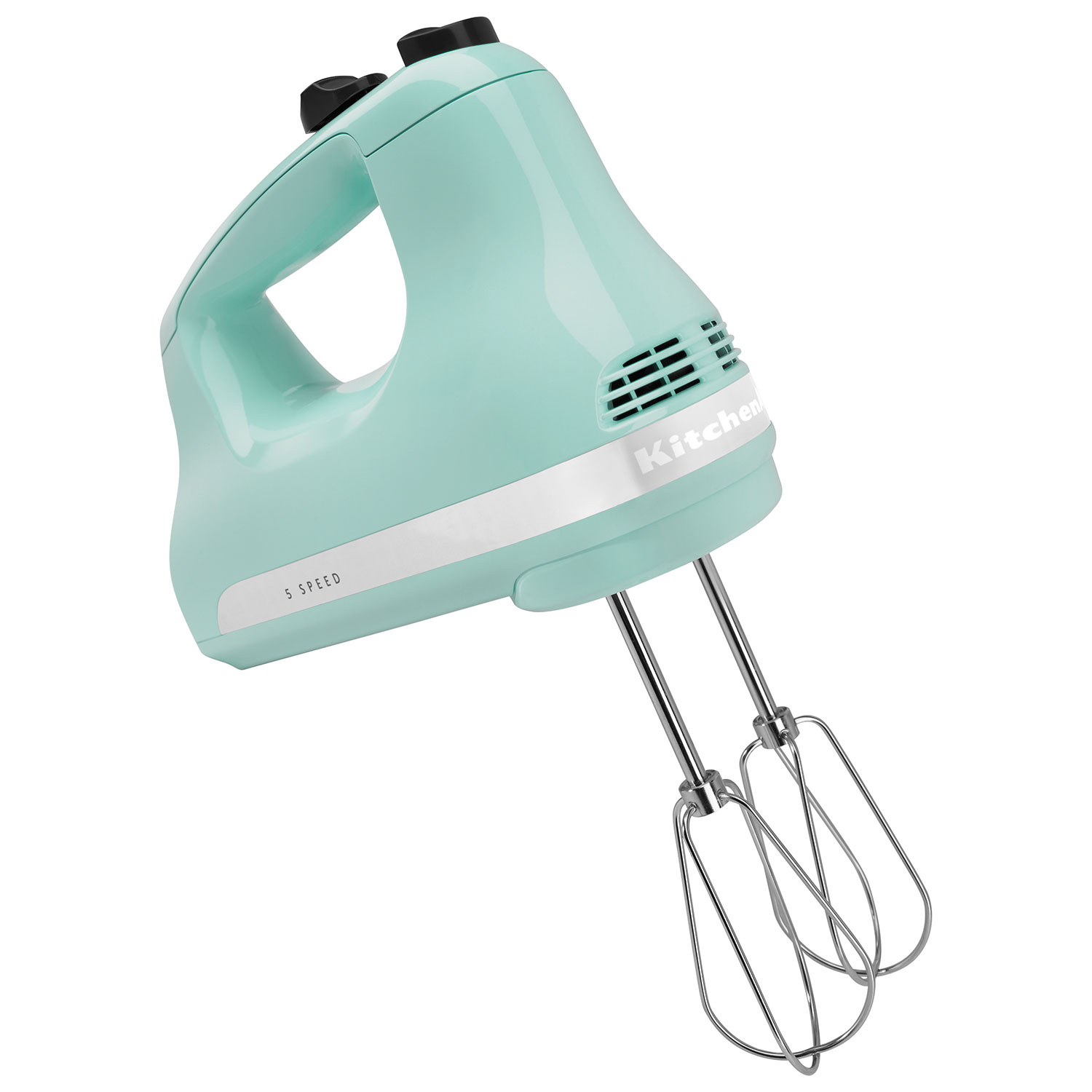 Kitchen Aid Ice Blue Kitchenaid Ultra Power 5 Speed Hand Mixer Khm512ic Ice Blue