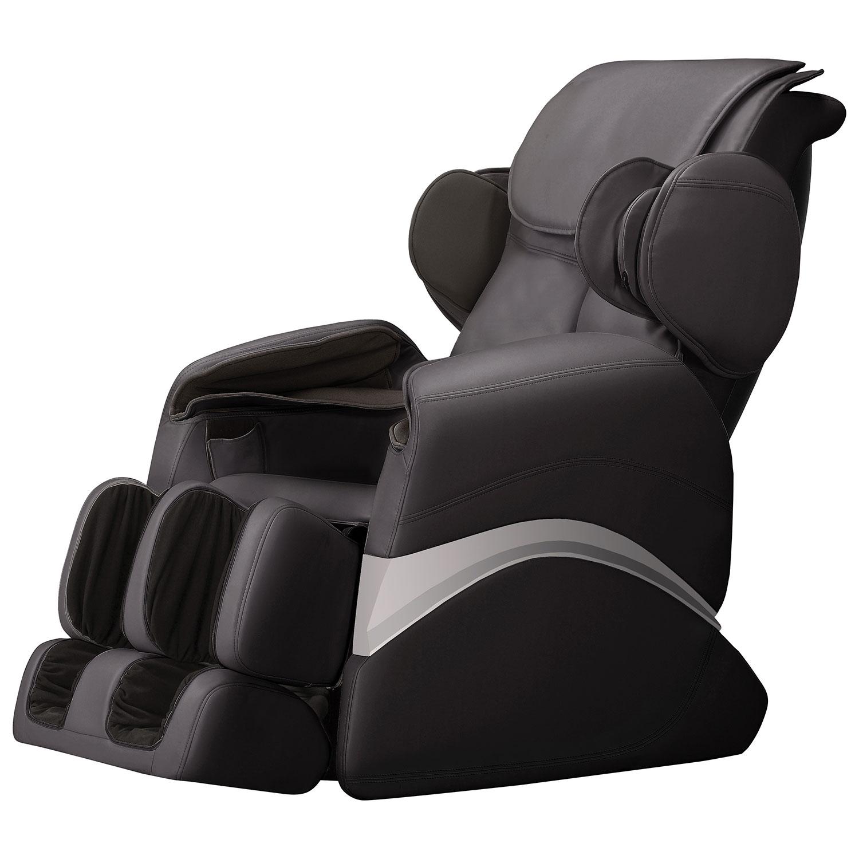 i fort Polyurethane Power Recliner Massage Chair Black