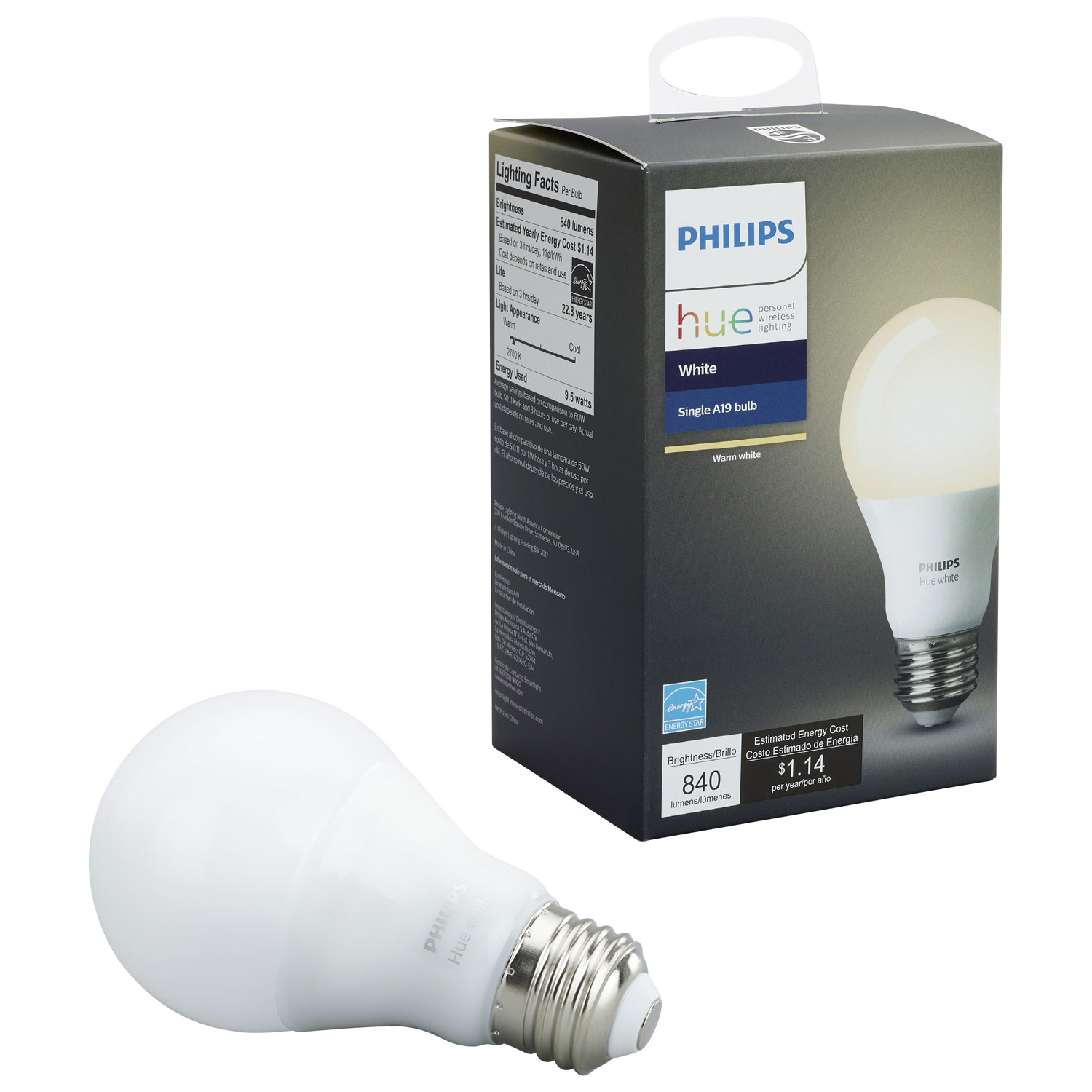 Philips Hue A19 Smart Led Light Bulb White Lights Best If A Is Used Instead Of The Connections Will Require Bit Buy Canada