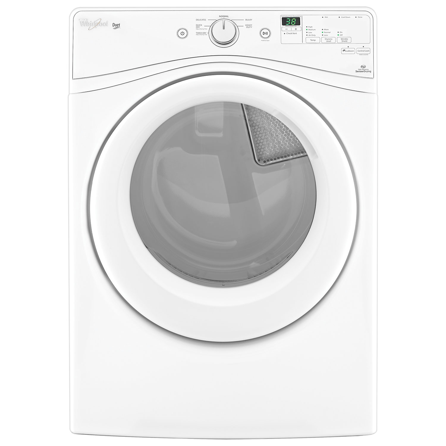 steam whirlpool washer pedestal image main front load chrome product shadow duet