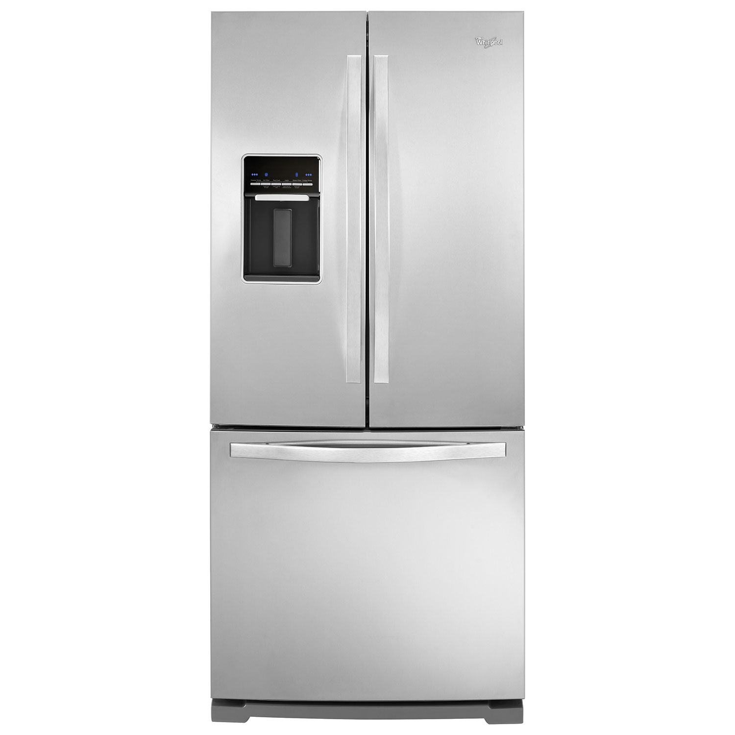 Whirpool 30 197 Cu Ft French Door Refrigerator With Water