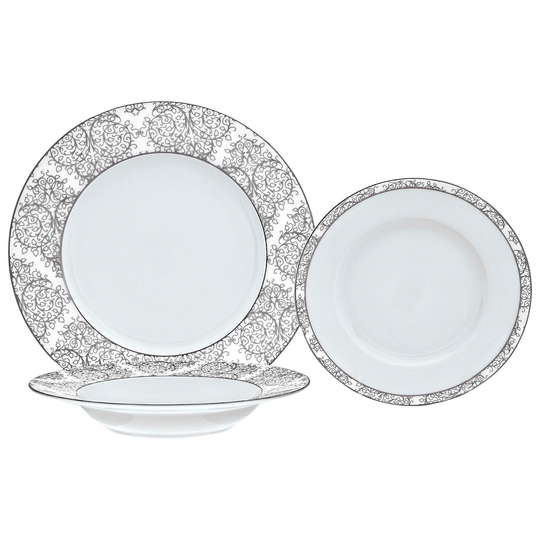 Brilliant Ritz 18-Piece Porcelain Dinnerware Set - Platine/White  Dinnerware Sets - Best Buy Canada  sc 1 st  Best Buy Canada & Brilliant Ritz 18-Piece Porcelain Dinnerware Set - Platine/White ...