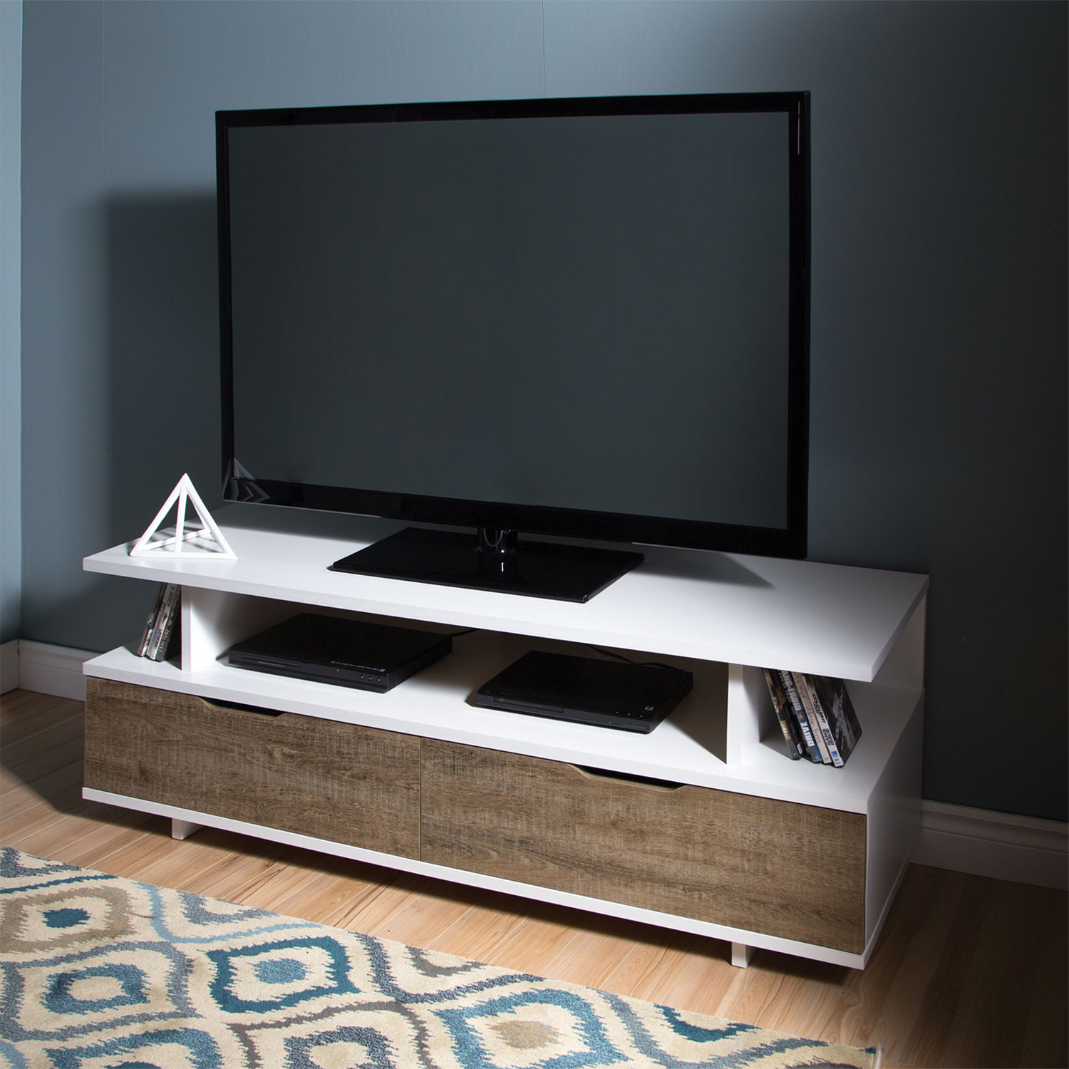 south shore reflekt  tv stand  weathered oakpure white  tv  - south shore reflekt  tv stand  weathered oakpure white  tv stands best buy canada