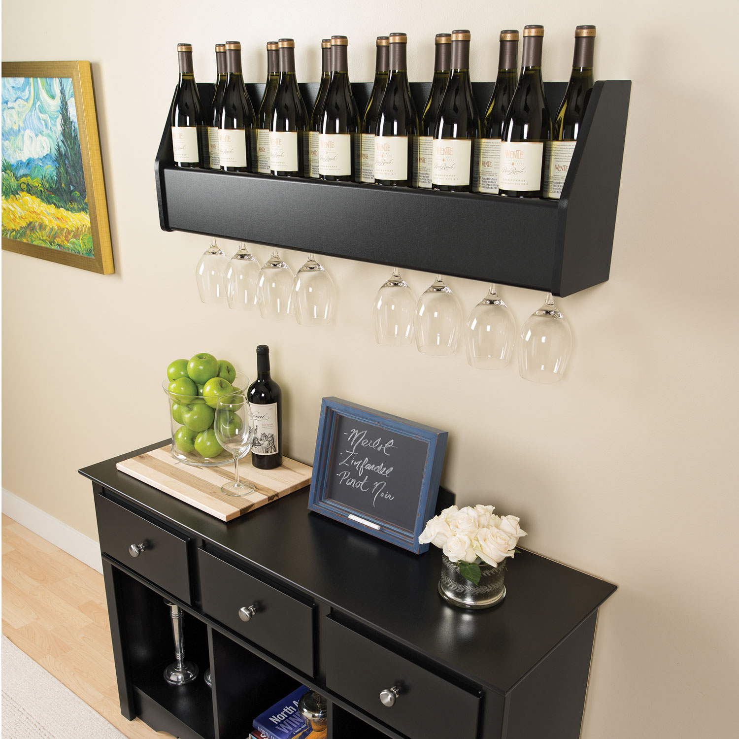 Floating Wine Rack   Espresso : Other Bar Accessories   Best Buy Canada Part 84