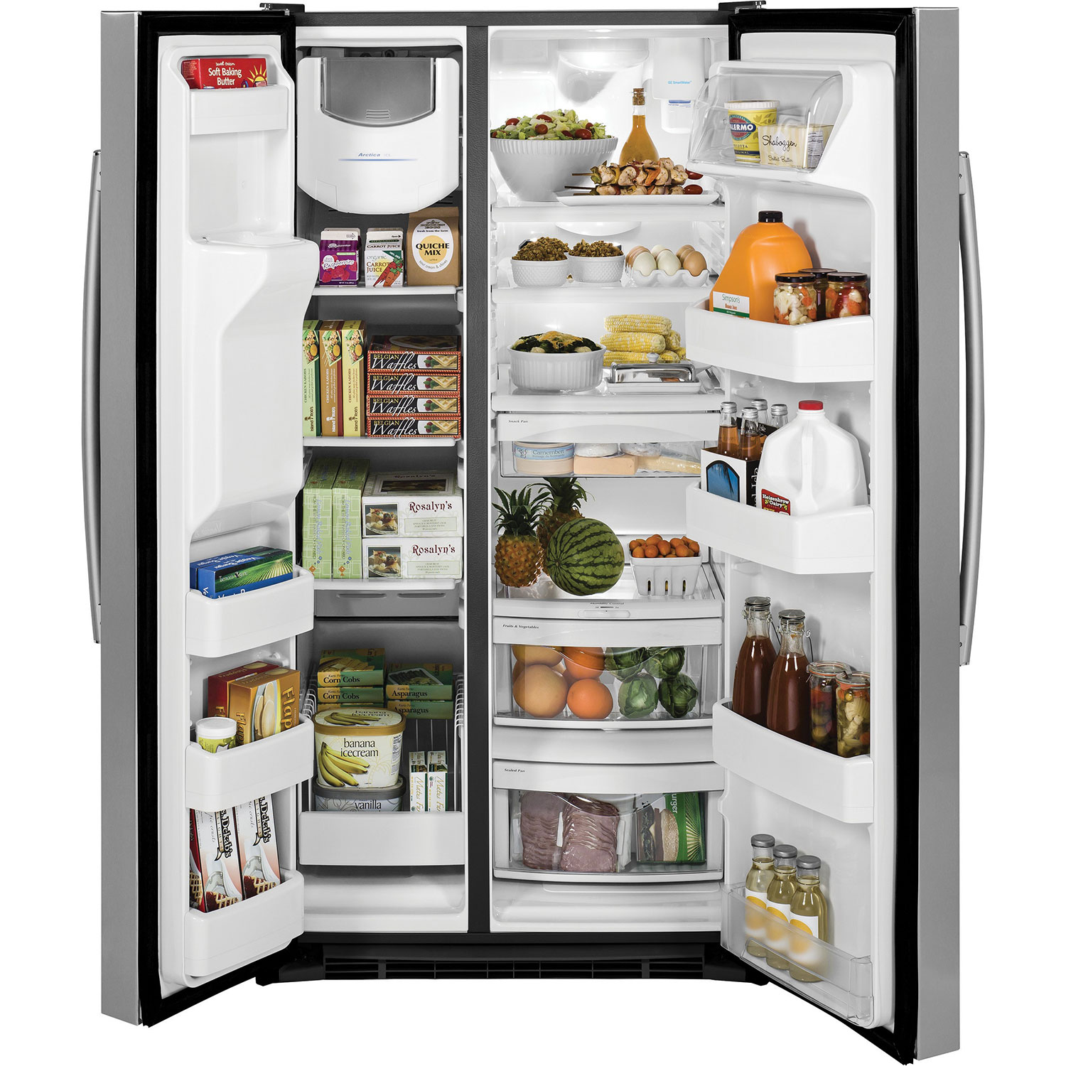 Ge 36 254 Cu Ft Side By Refrigerator With Ice Water Sxs Wiring Diagram Dispenser Stainless Steel Refrigerators Best Buy Canada