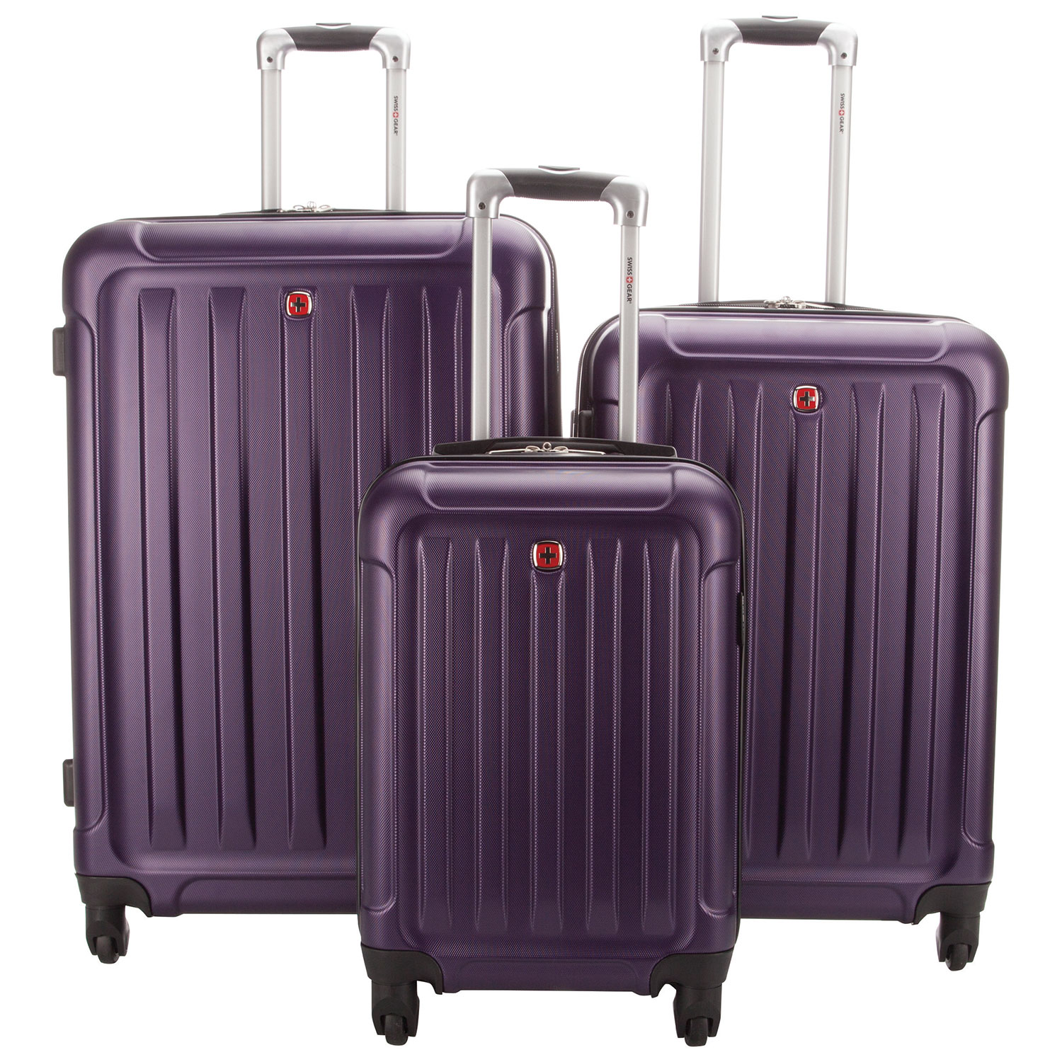 Swiss Gear Gallivant 3-Piece Hard Side 4-Wheeled Expandable ...