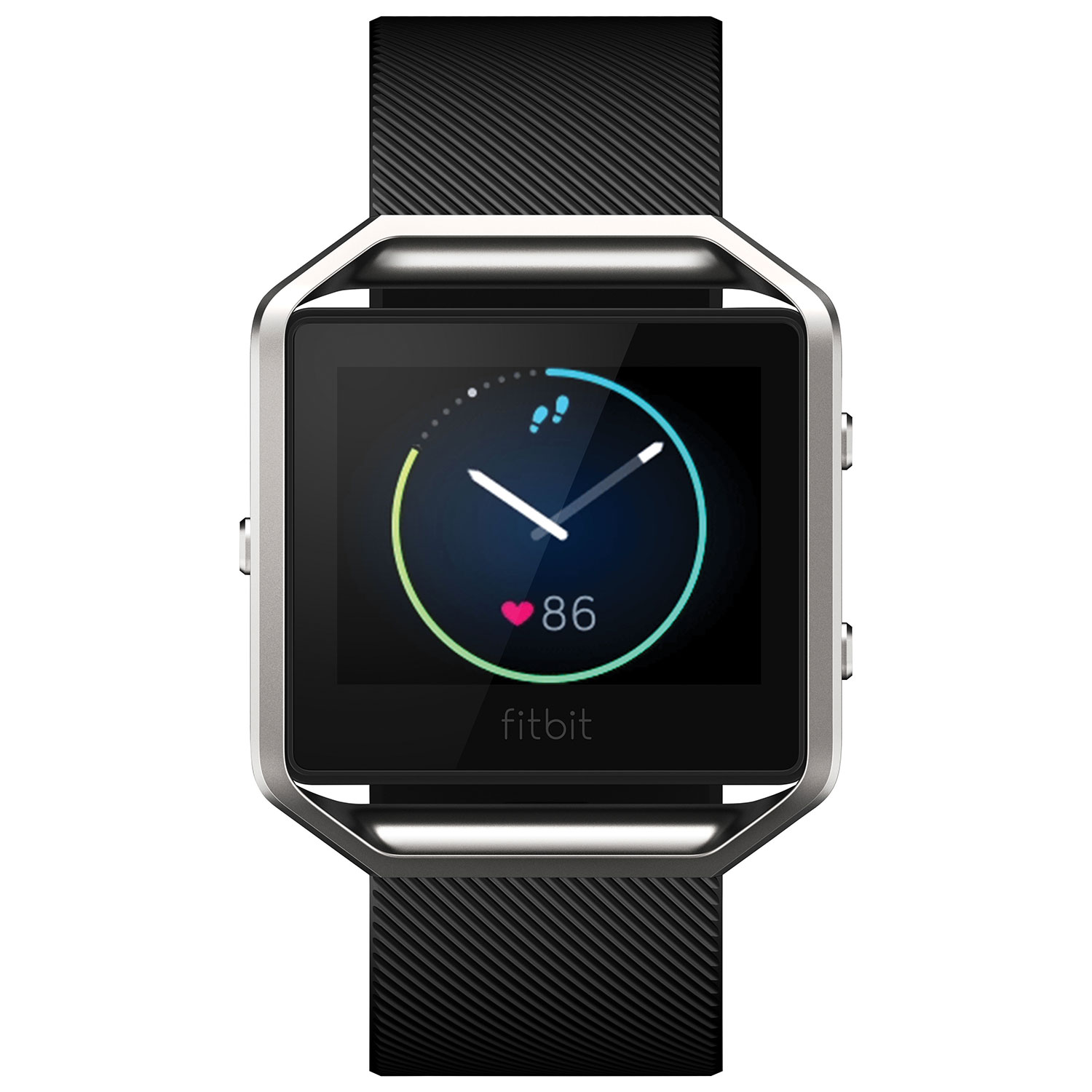 Image result for Fitbit Blaze Small black and silver sports smartwatch