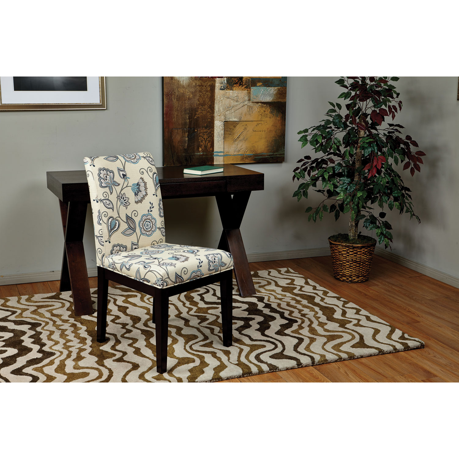 dakota traditional fabric dining chair  avignon sky pattern  - dakota traditional fabric dining chair  avignon sky pattern  dining chairs best buy canada