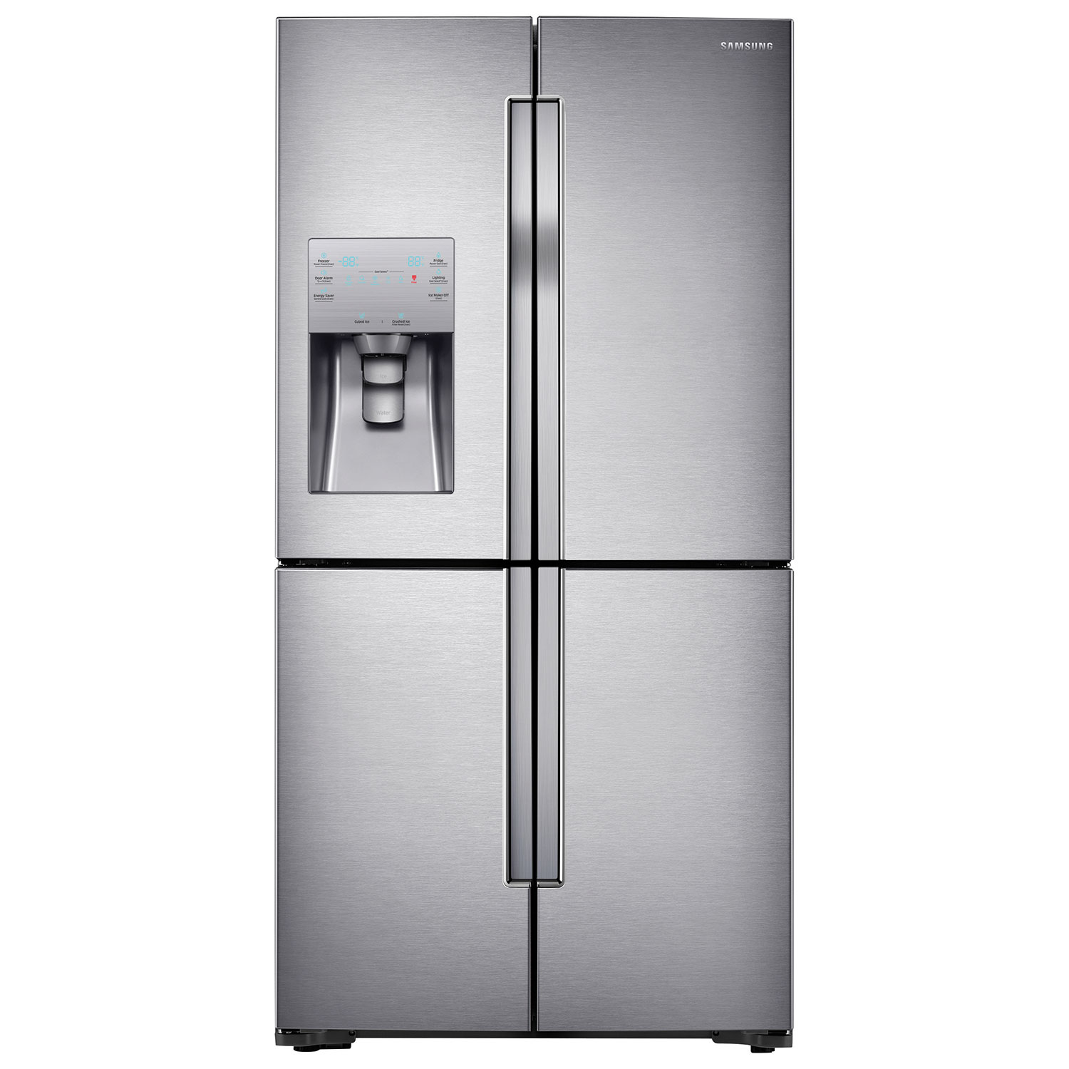 samsung cu family steel ft sd black pdp refrigerator french stainless hub door