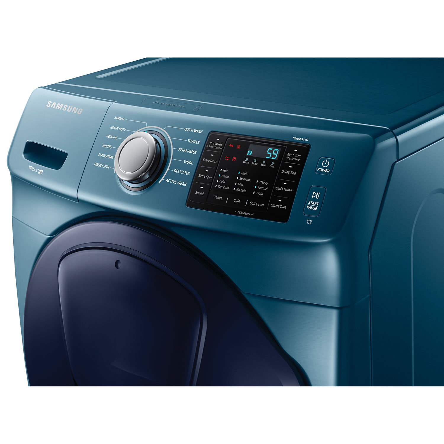 samsung 52 cu ft high efficiency front load washer wf45k6200az blue sapphire washers best buy canada
