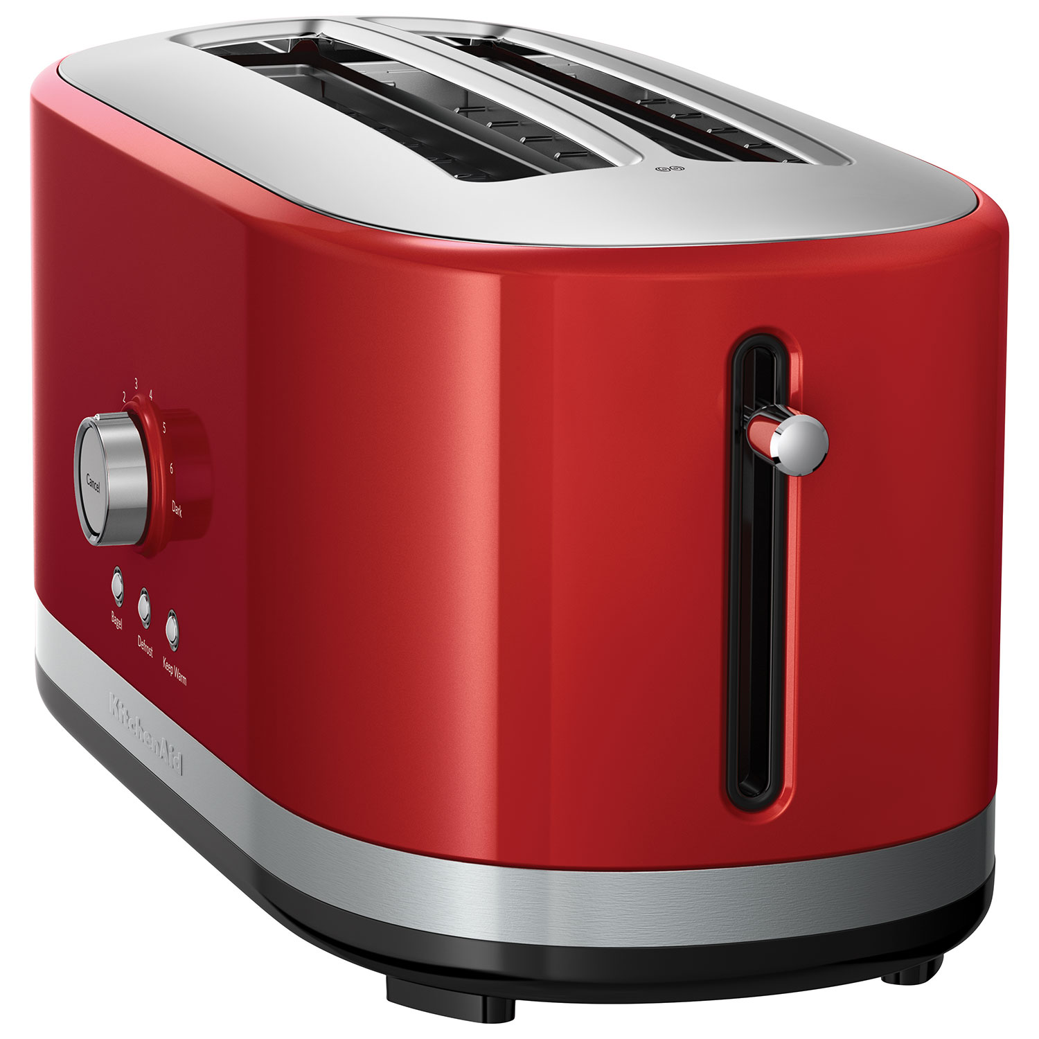 KitchenAid Long Slot Toaster - 4-Slice - Empire Red : Toasters ...